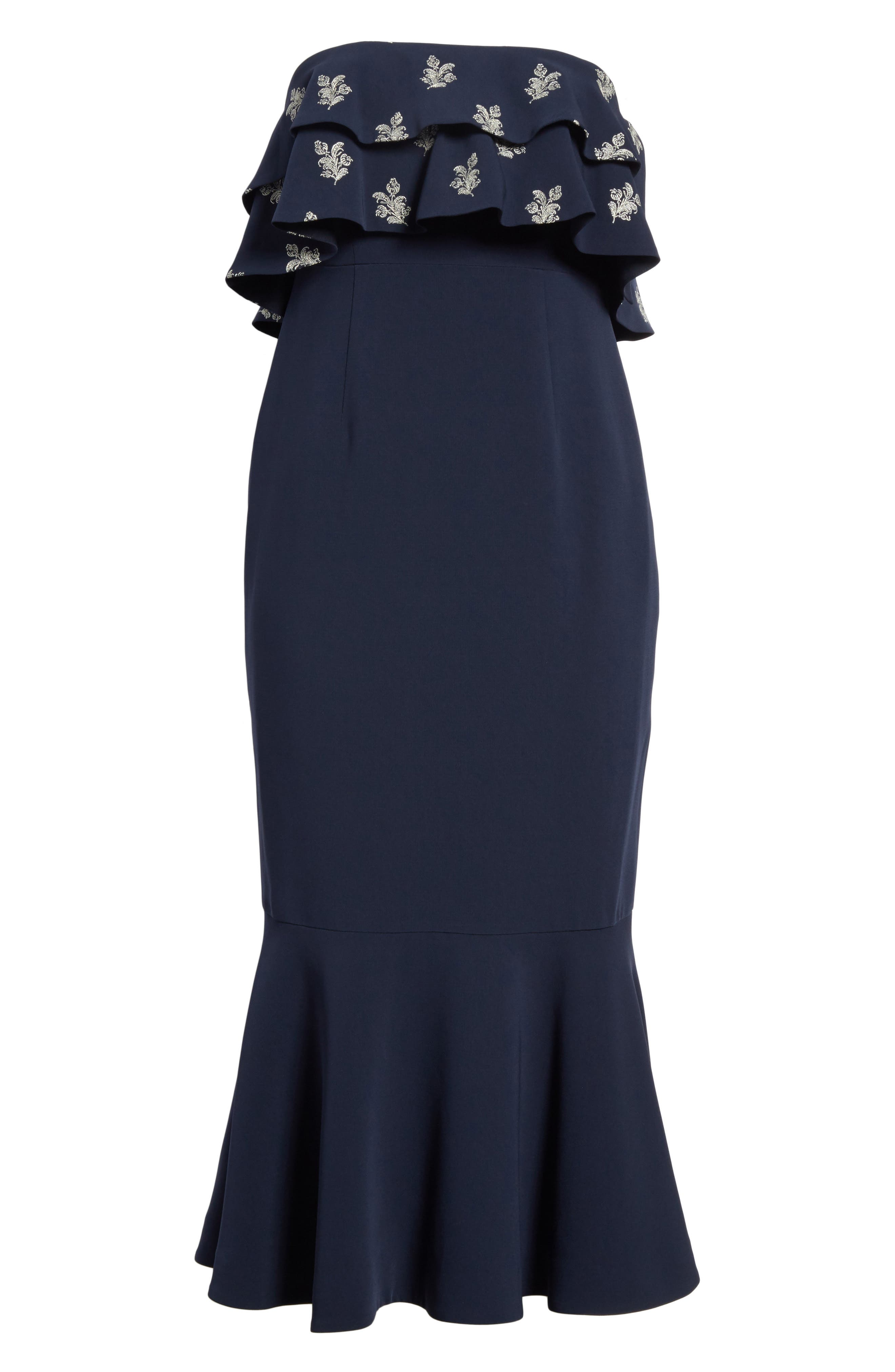 Eza Strapless Mermaid Dress,                             Alternate thumbnail 6, color,