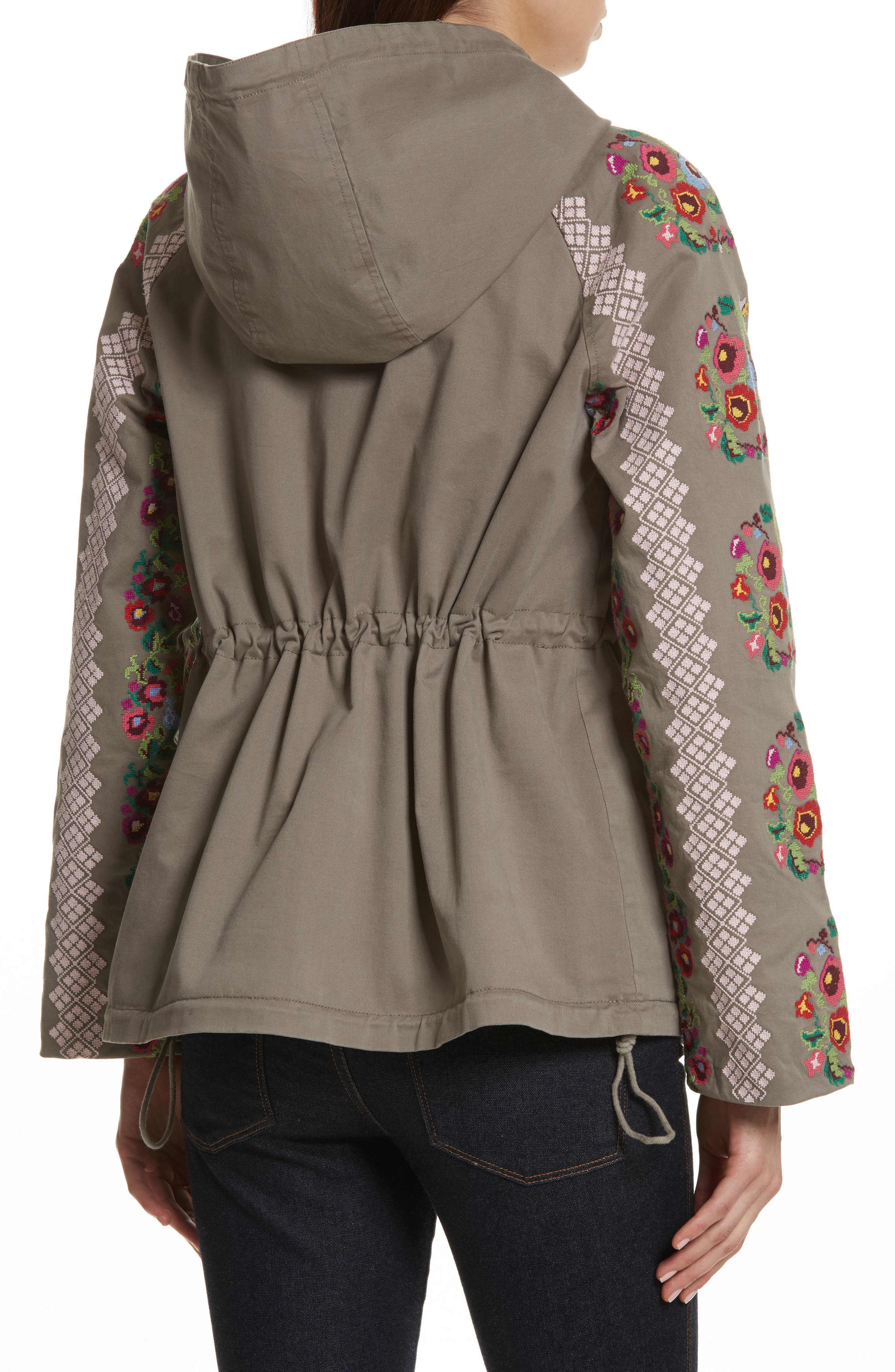NEEDLE & THREAD,                             Cross Stitch Flower Parka,                             Alternate thumbnail 2, color,                             250