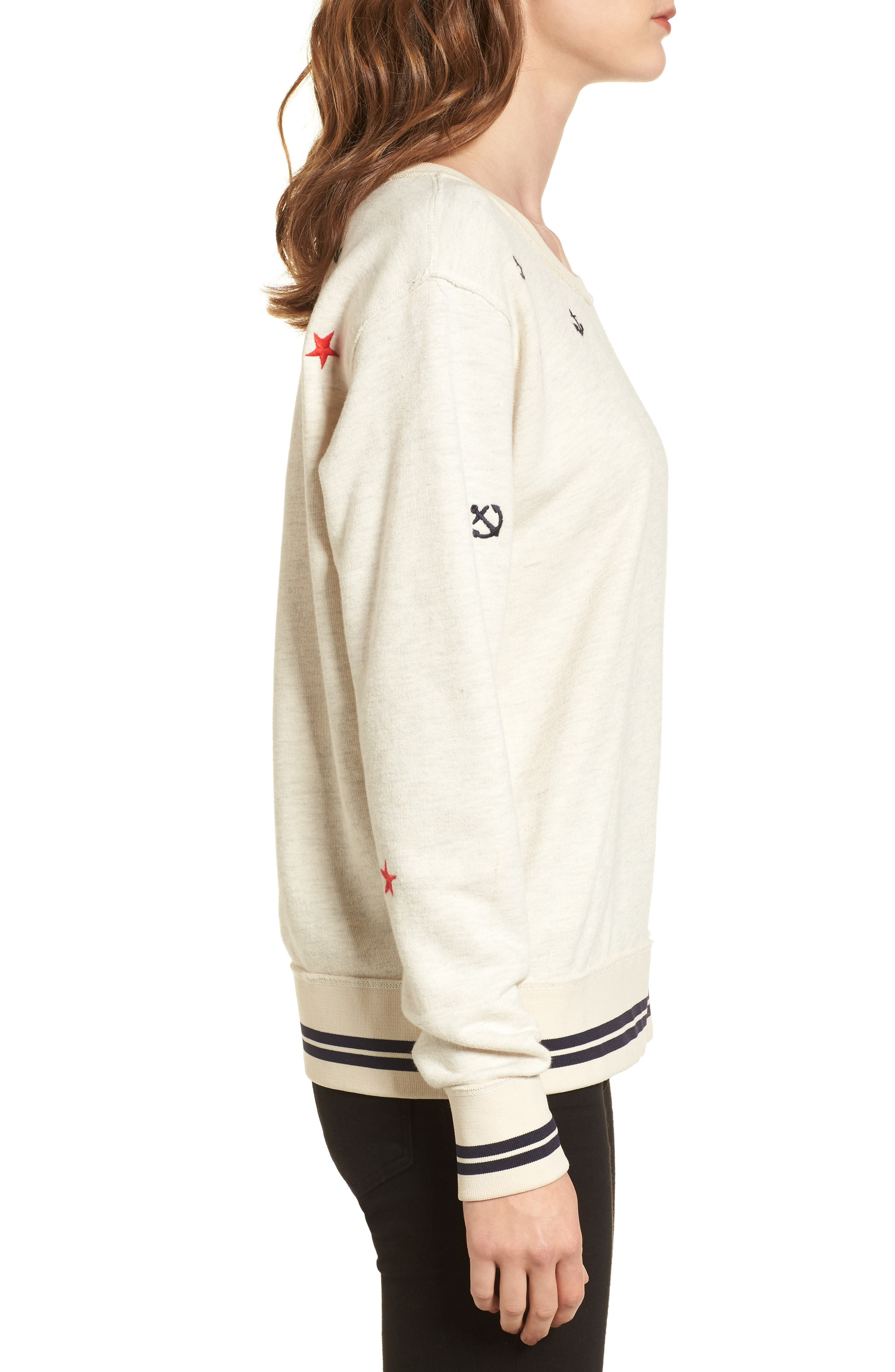 Nautical Sweatshirt,                             Alternate thumbnail 3, color,                             900
