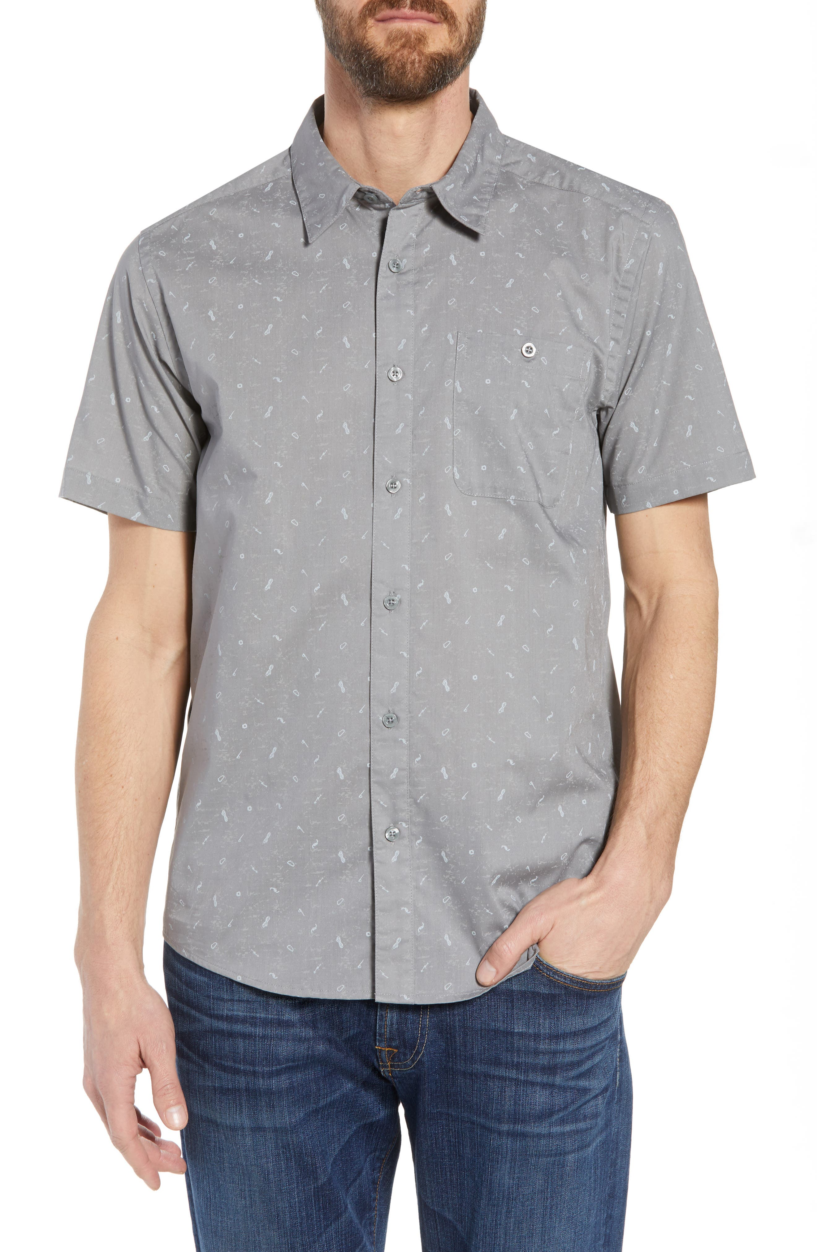'Go To' Slim Fit Short Sleeve Sport Shirt,                         Main,                         color, 022
