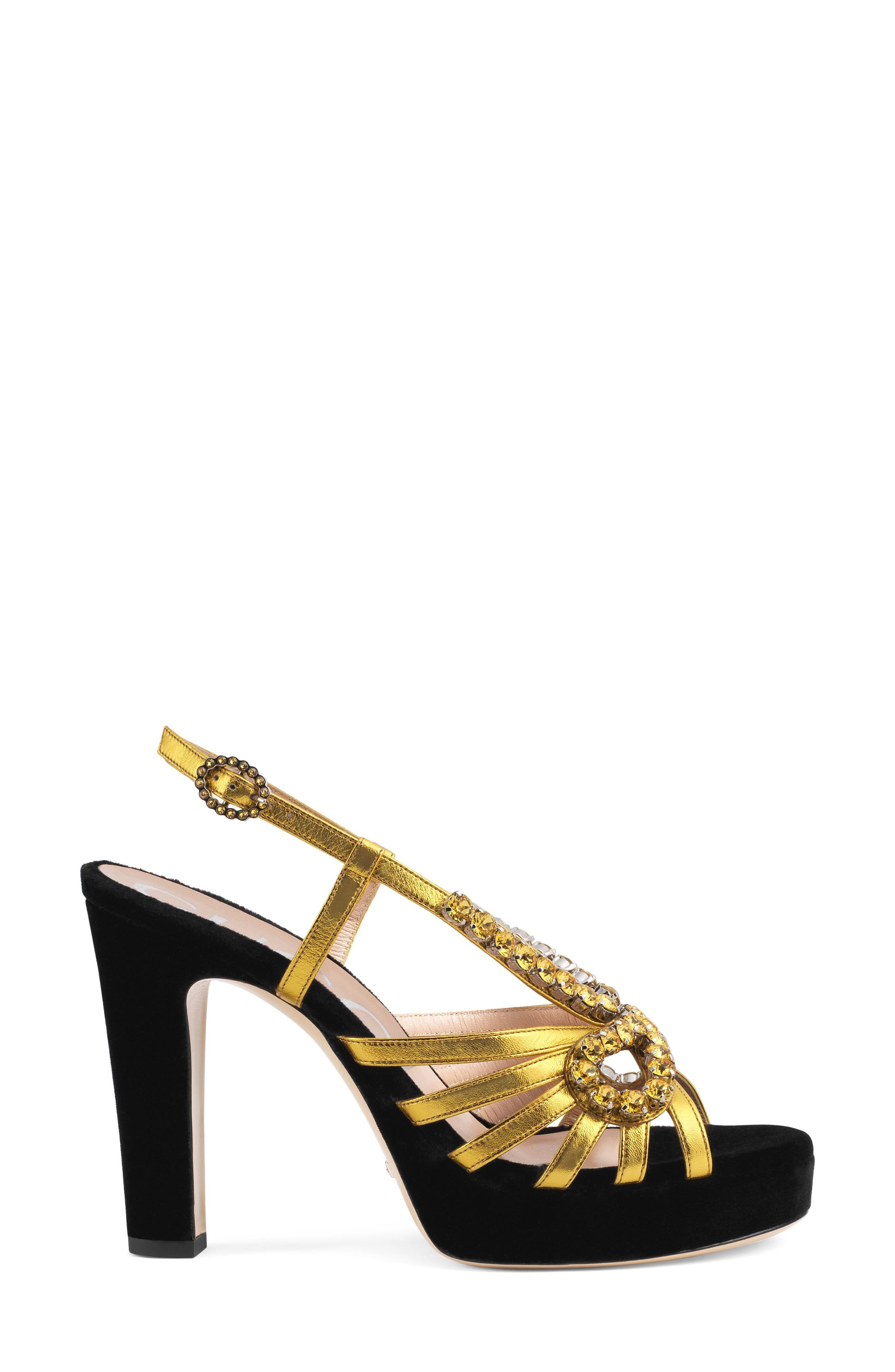 Zephyra Jewel Sandal,                             Alternate thumbnail 2, color,                             BLACK/ GOLD