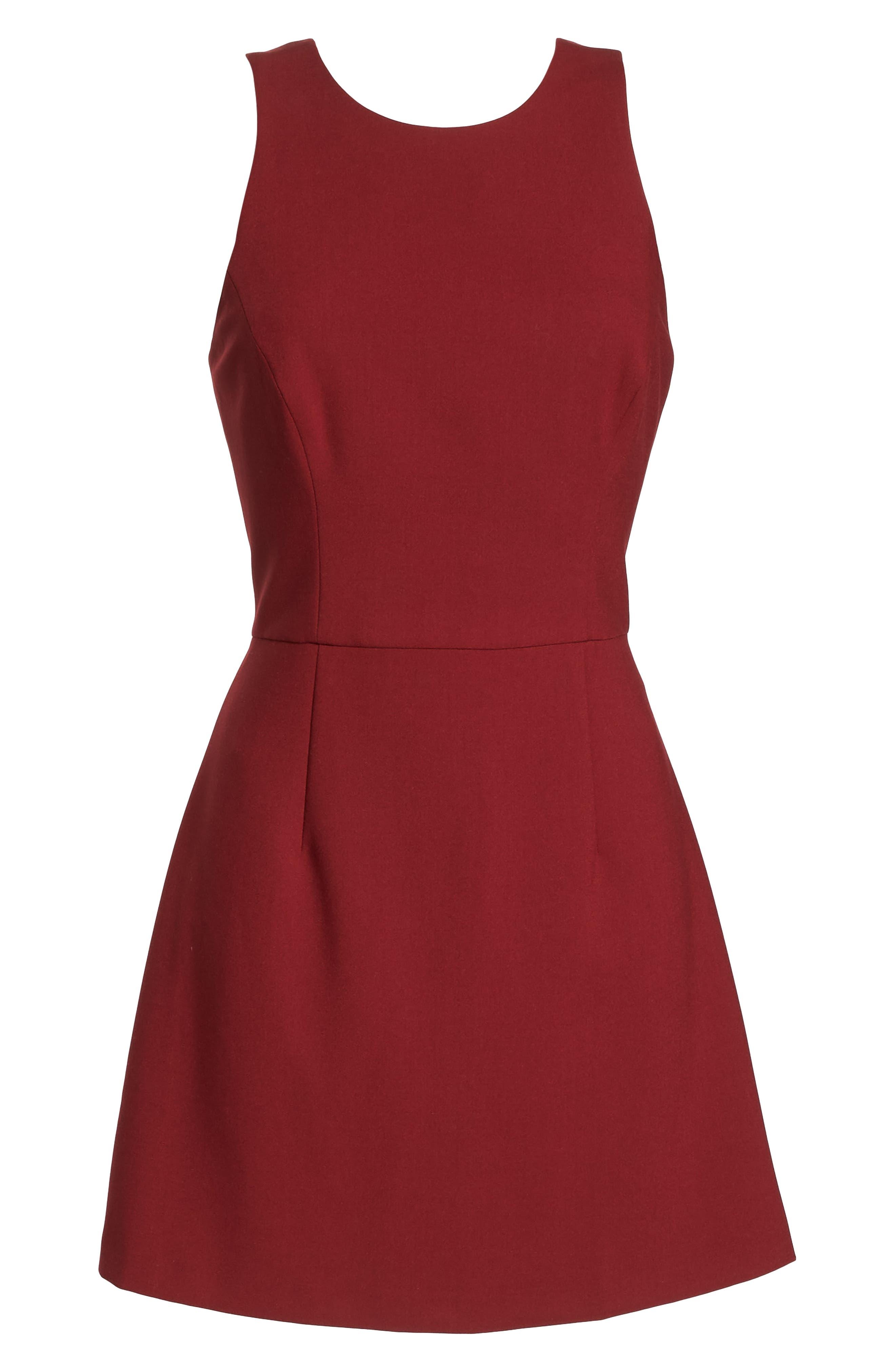 V-Back Tank Dress,                             Alternate thumbnail 7, color,                             DEEP FRAMBOISE