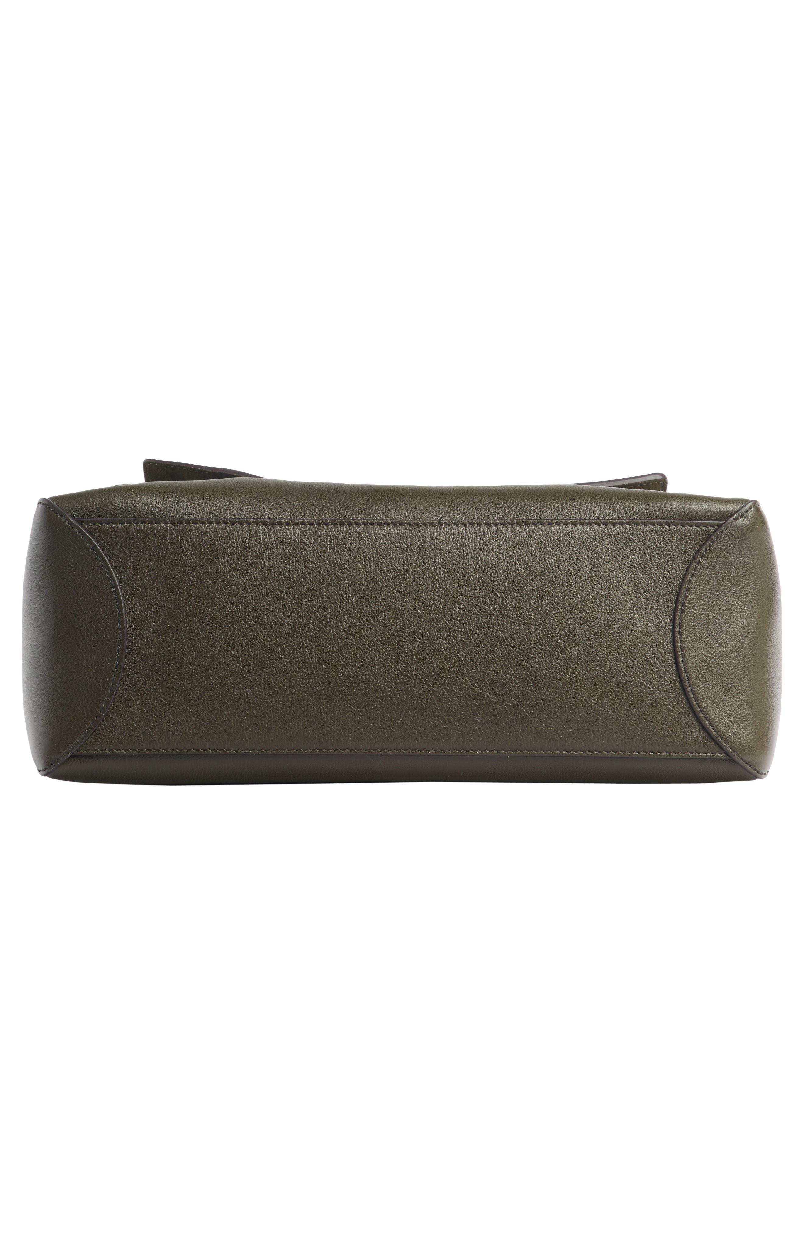 Medium Faye Leather Shoulder Bag,                             Alternate thumbnail 5, color,                             DEEP FOREST