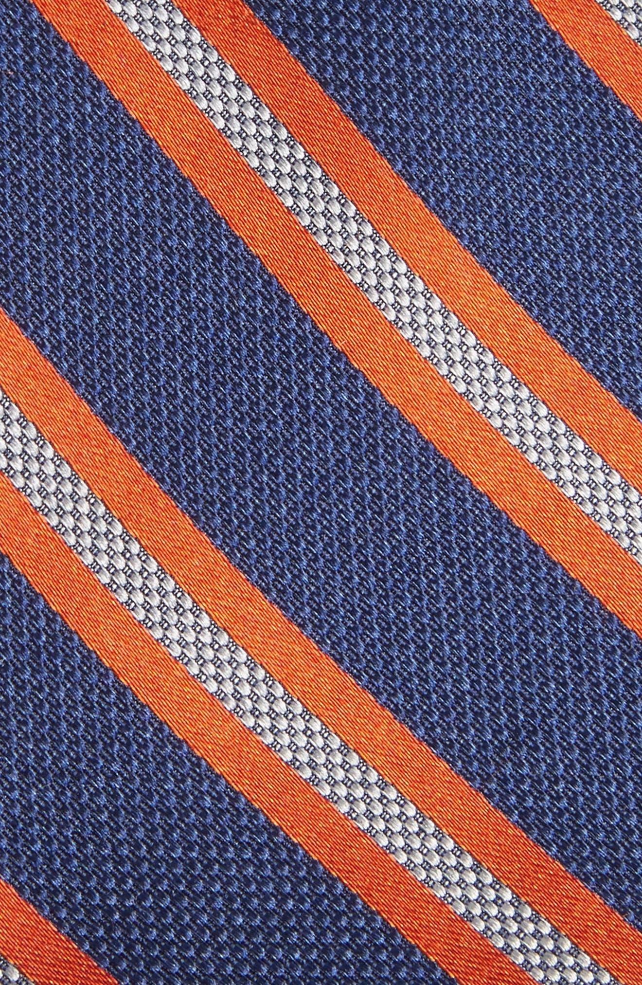 Oxford Stripe Silk Tie,                             Alternate thumbnail 3, color,