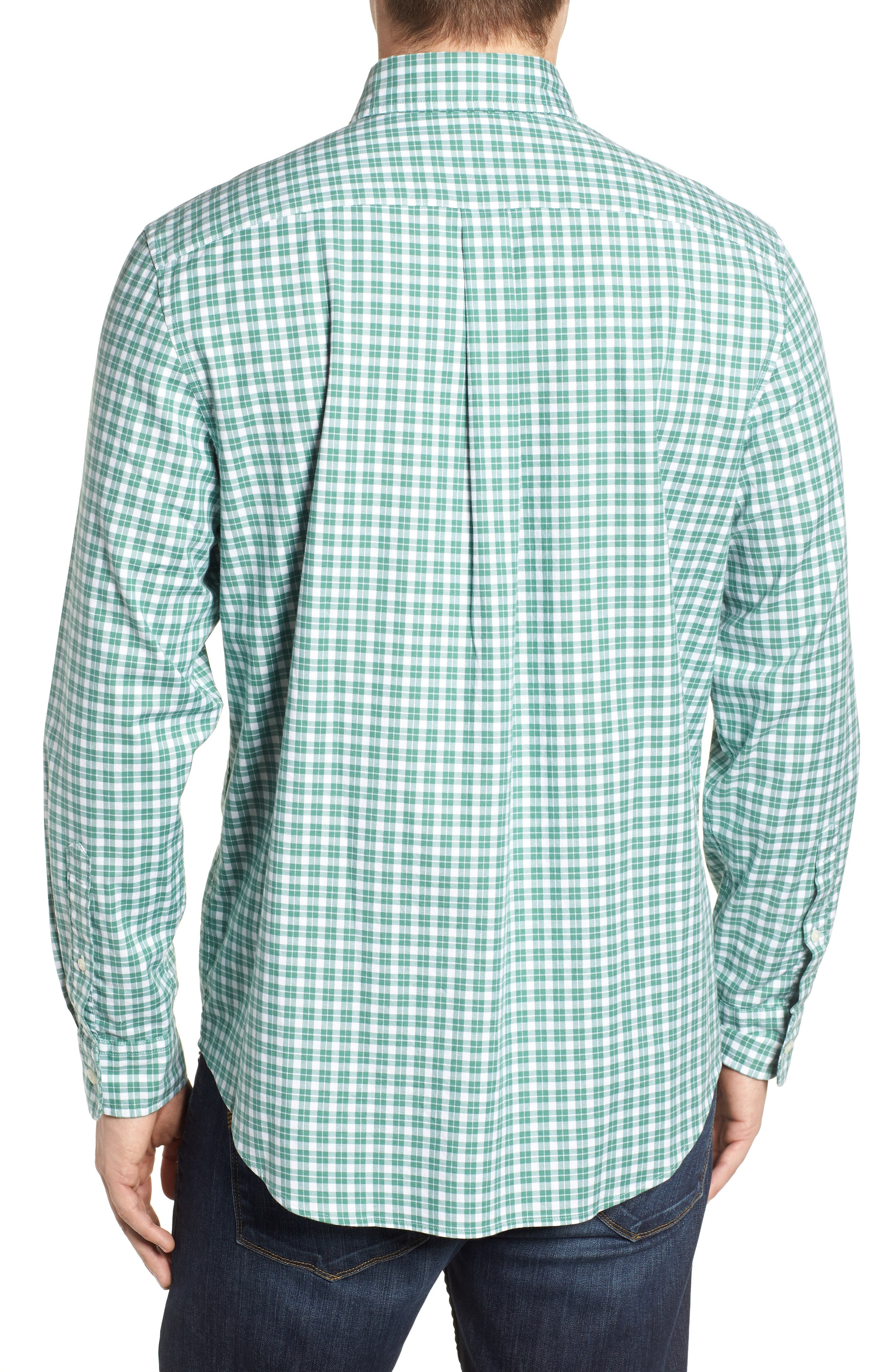 Eagle Hill Classic Fit Check Sport Shirt,                             Alternate thumbnail 3, color,                             STARBOARD GREEN