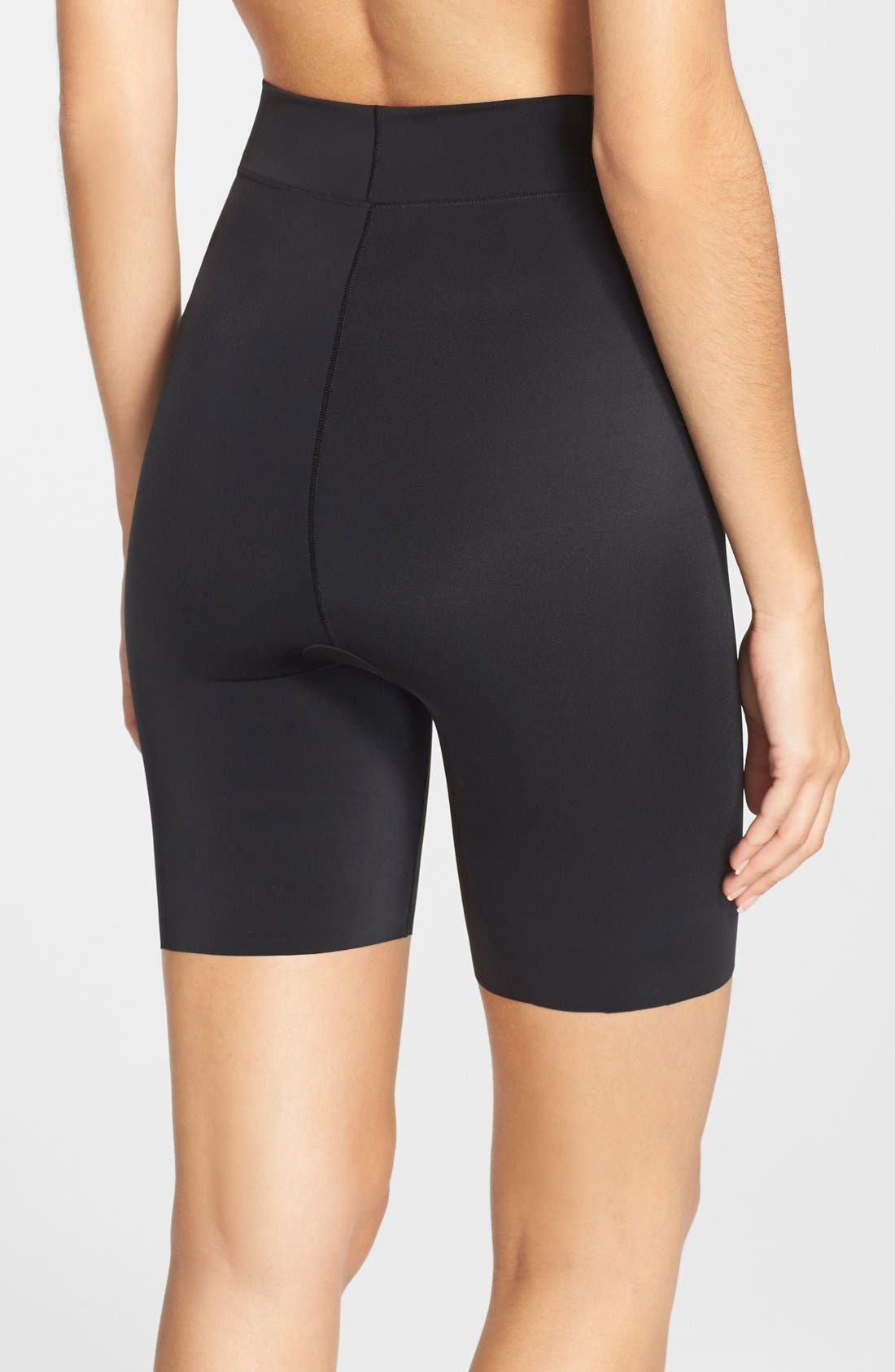 'Mother Tucker - Shortie' High Waist Compression Shorts,                             Alternate thumbnail 4, color,                             BLACK