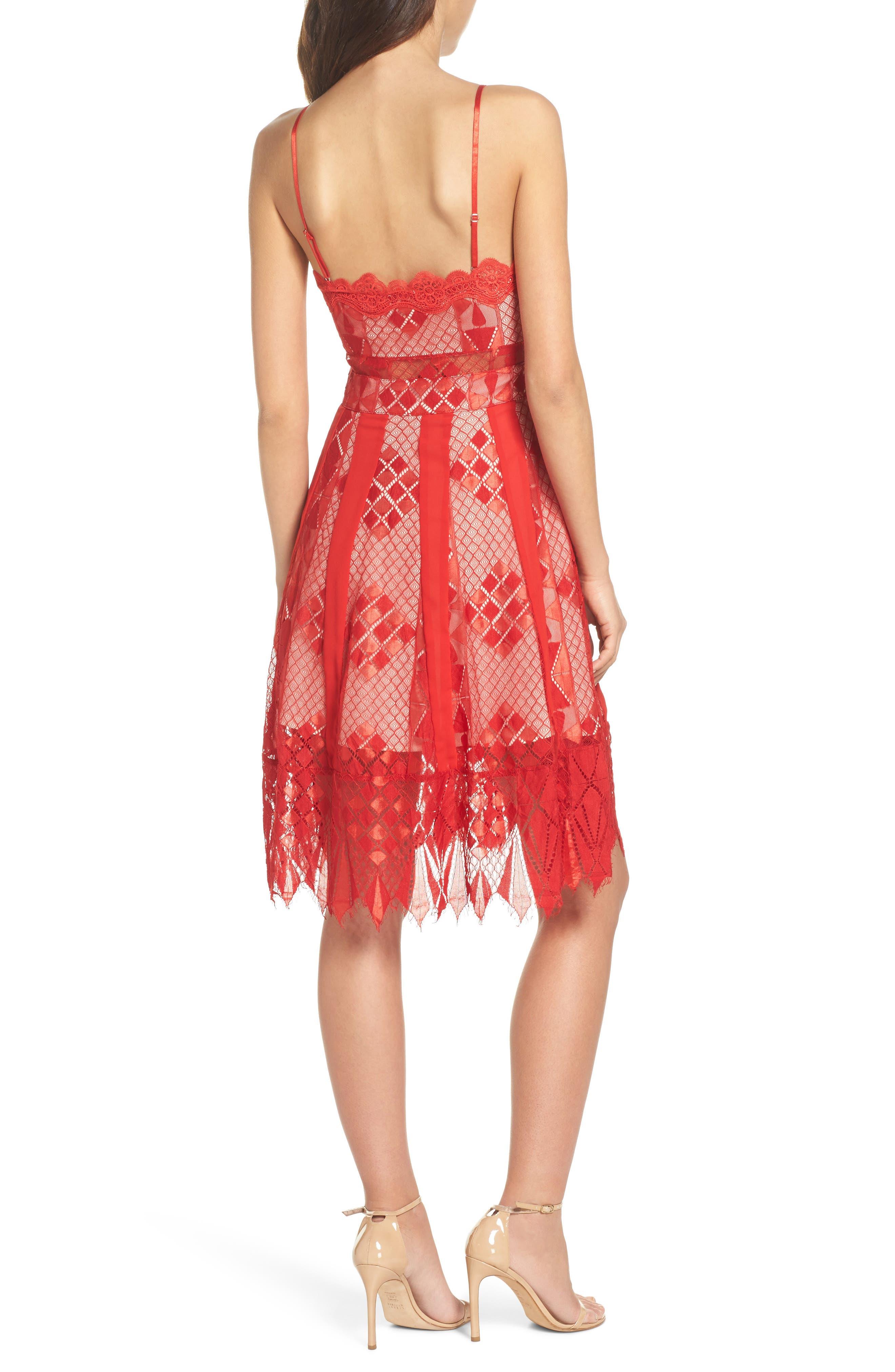 Calla Geometric Lace Dress,                             Alternate thumbnail 2, color,                             619
