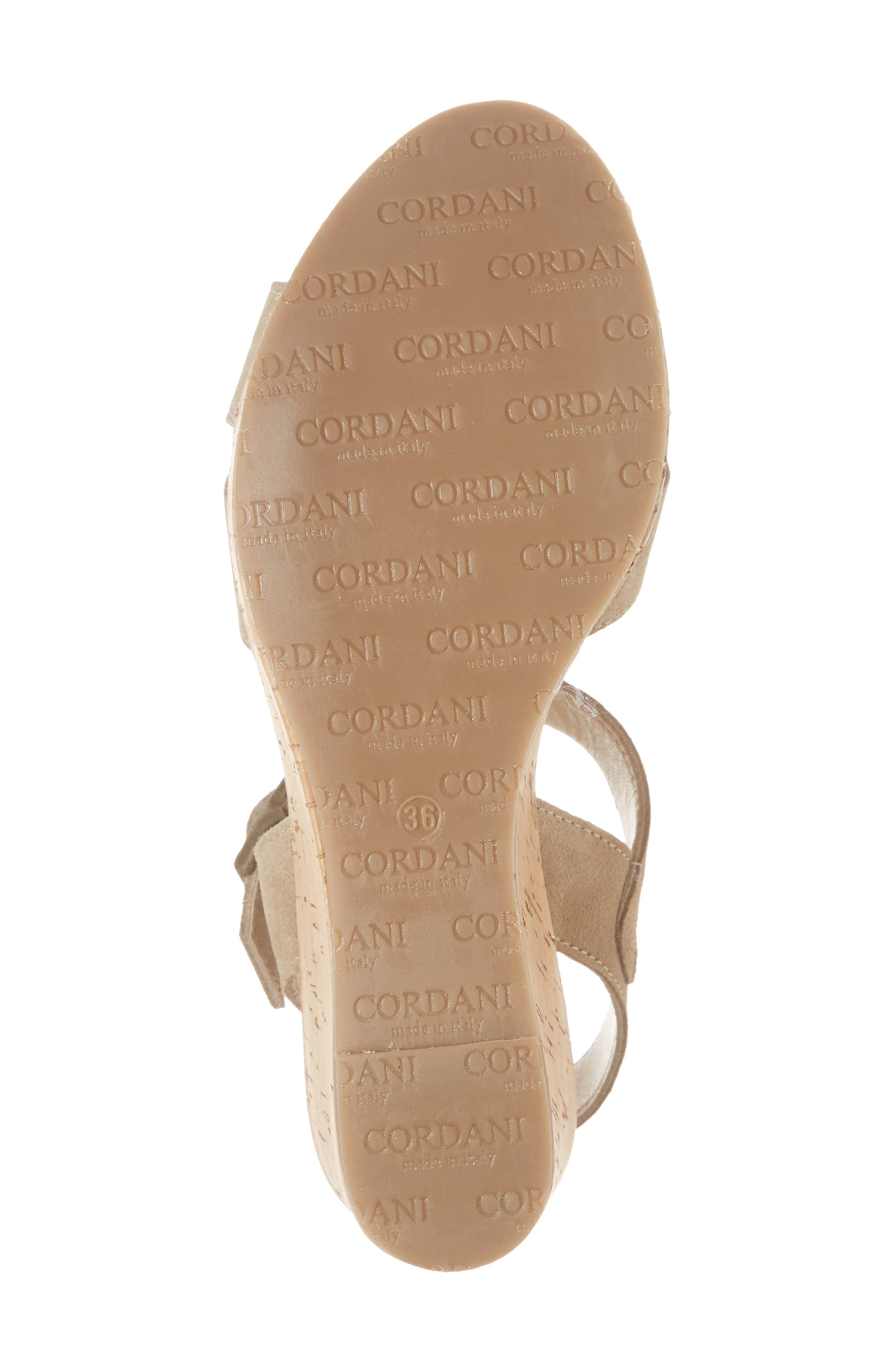 Candy Wedge Sandal,                             Alternate thumbnail 6, color,                             CORDA SUEDE