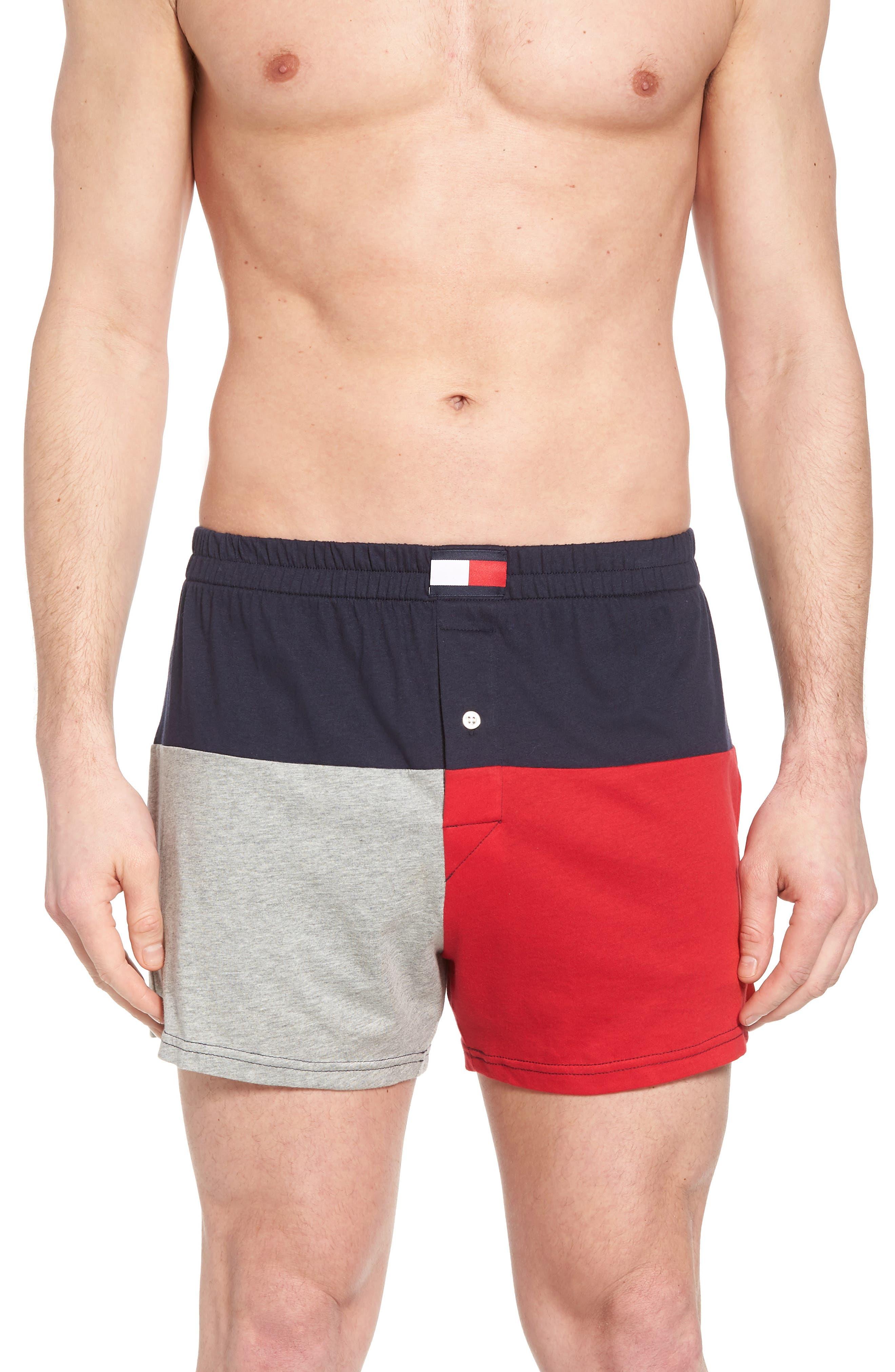 Colorblock Knit Boxers,                         Main,                         color,