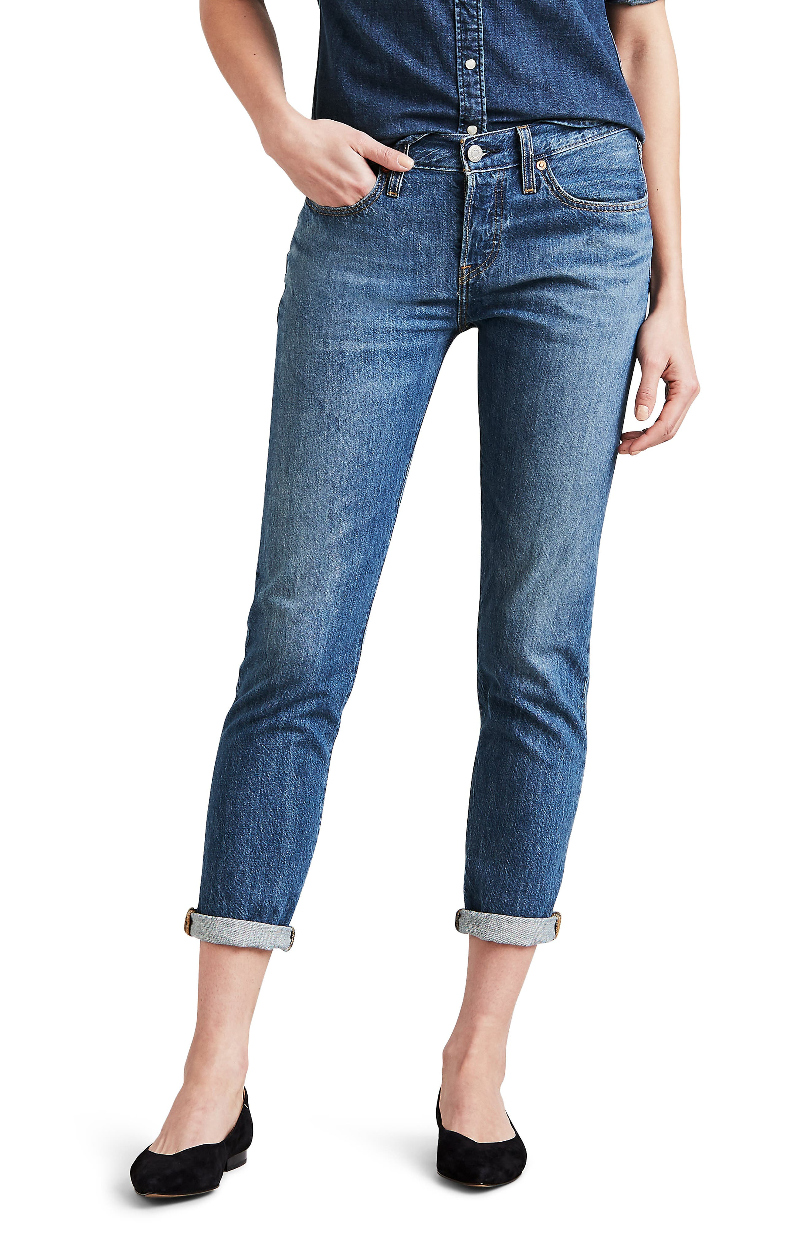 501<sup>®</sup> Ankle Taper Jeans,                             Main thumbnail 1, color,                             FOREVER YOUR GIRL