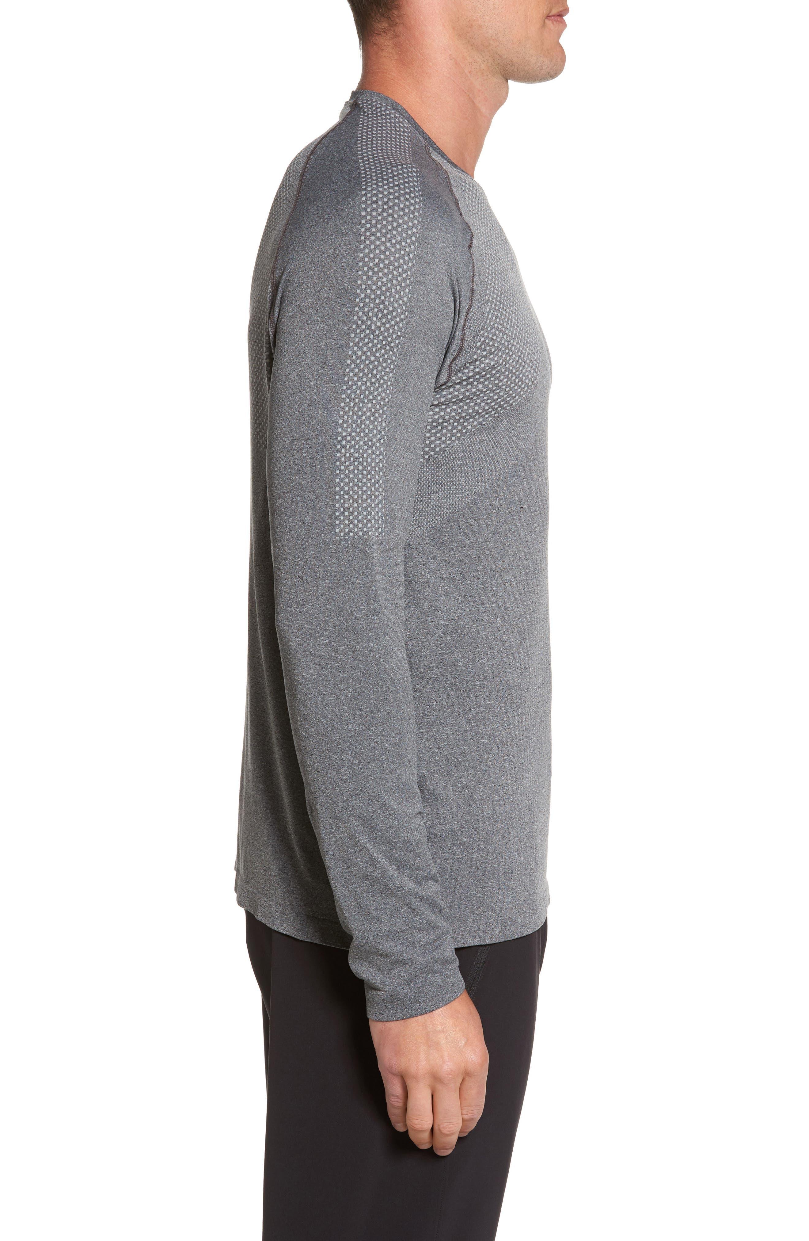 Zeolite Long Sleeve Performance T-Shirt,                             Alternate thumbnail 3, color,                             050