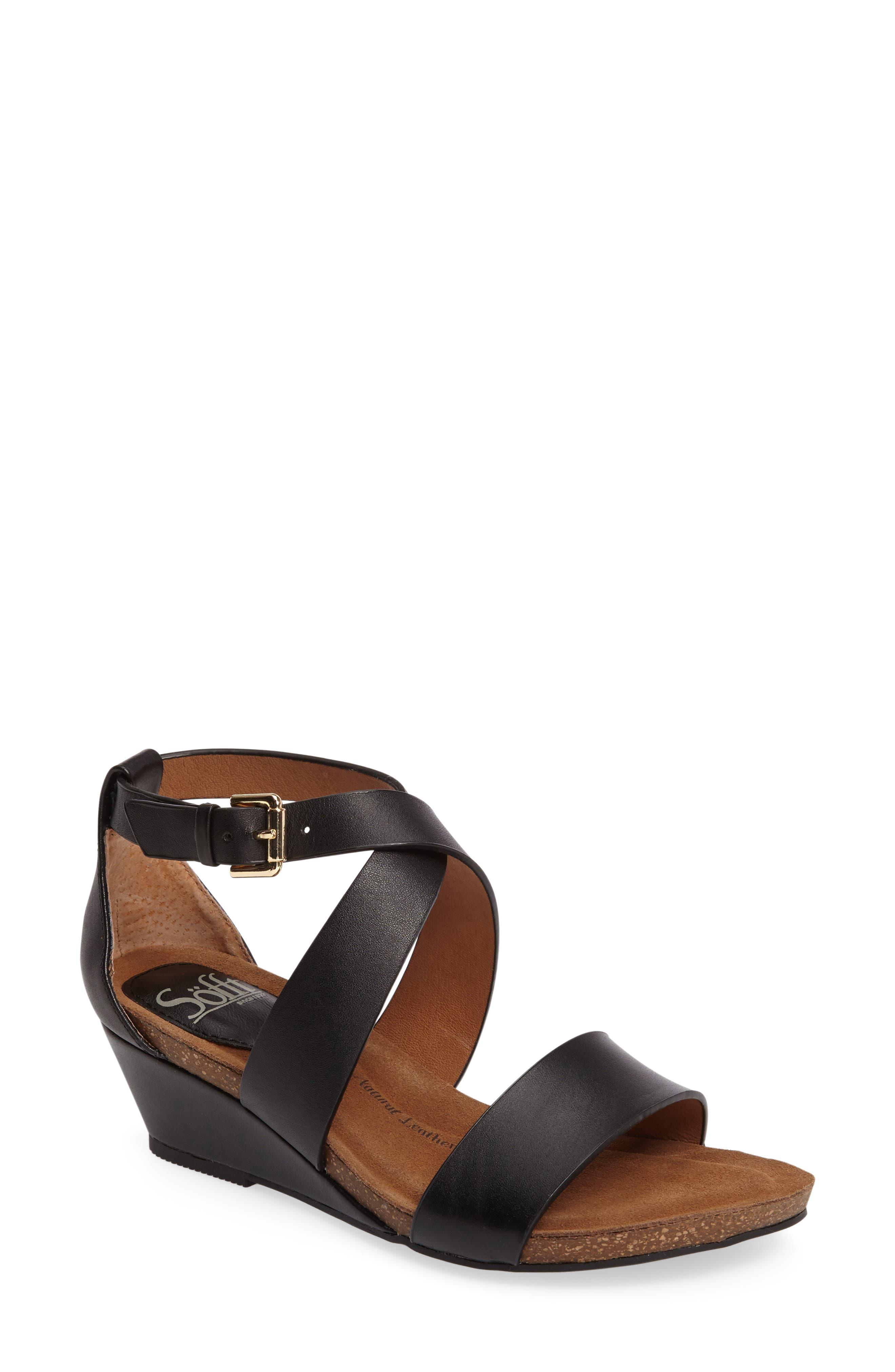 Vita Strappy Wedge Sandal,                         Main,                         color,