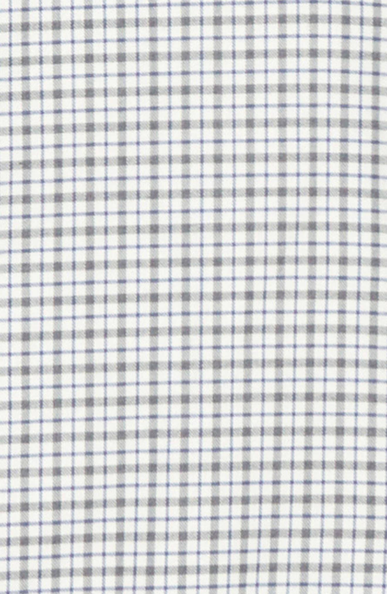 Regular Fit Check Dress Shirt,                             Alternate thumbnail 7, color,                             GREY