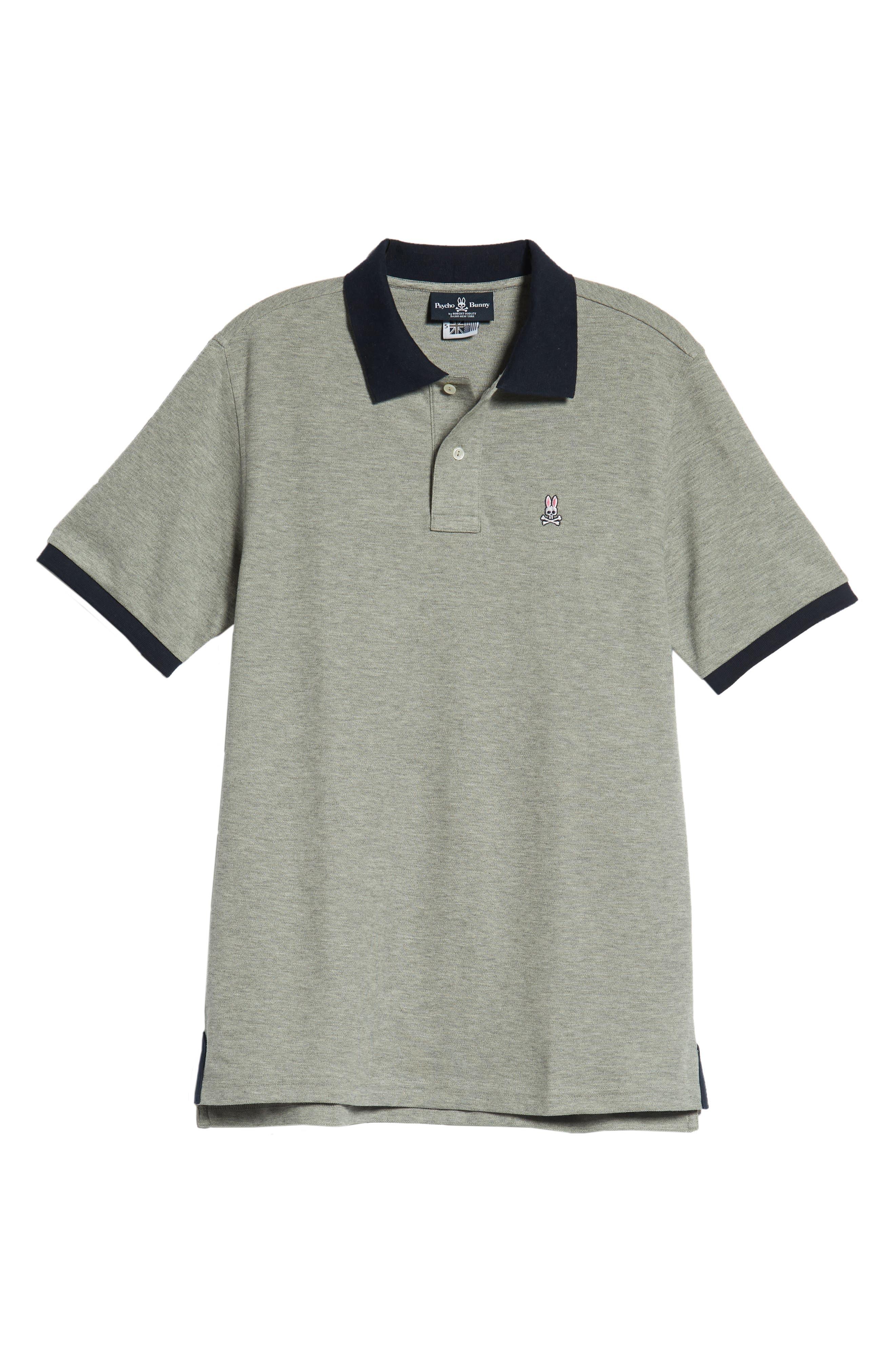Checkered Collar Piqué Polo,                             Alternate thumbnail 6, color,                             020