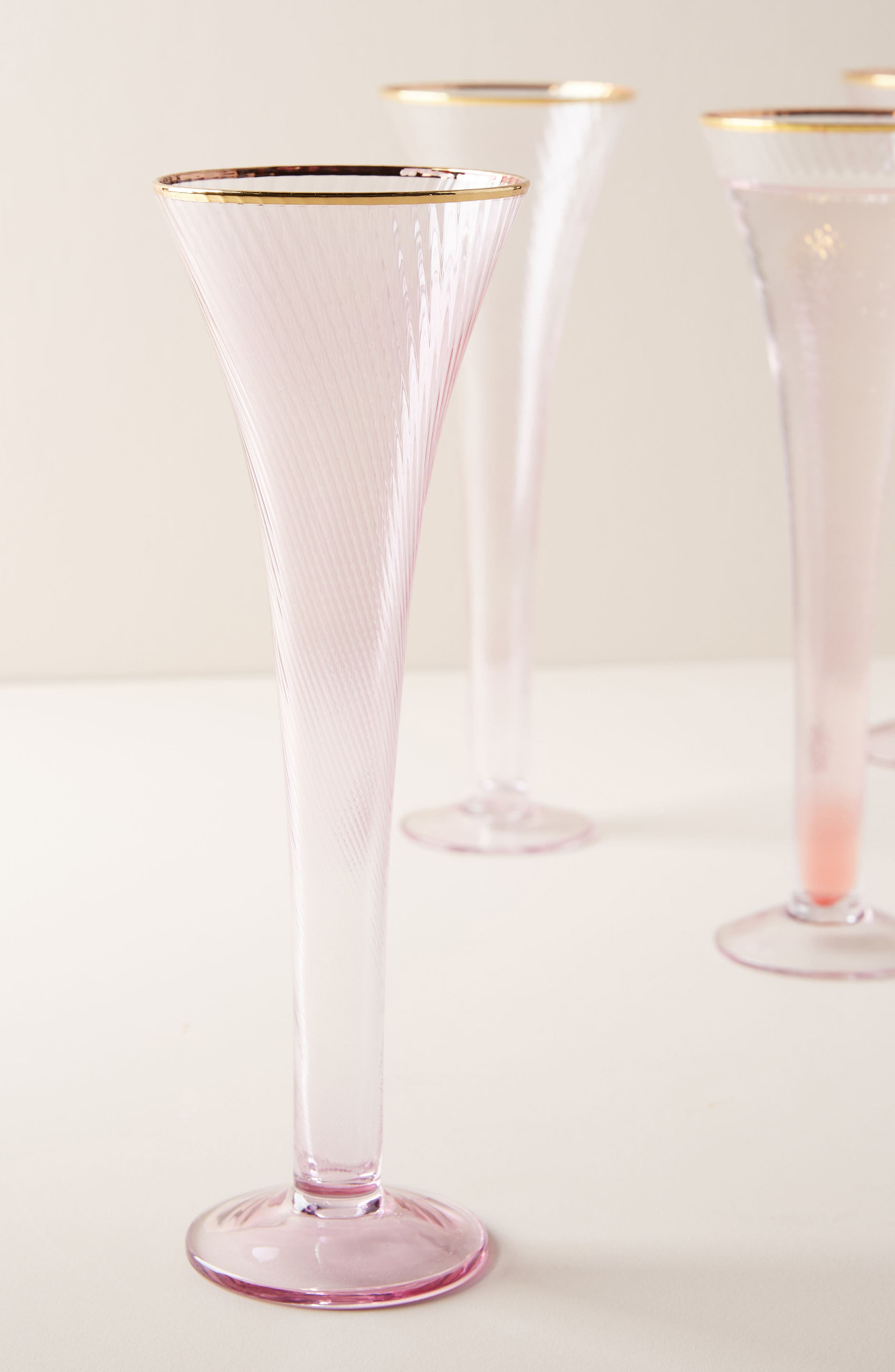 Marion Set of 4 Flutes,                             Alternate thumbnail 2, color,                             PINK