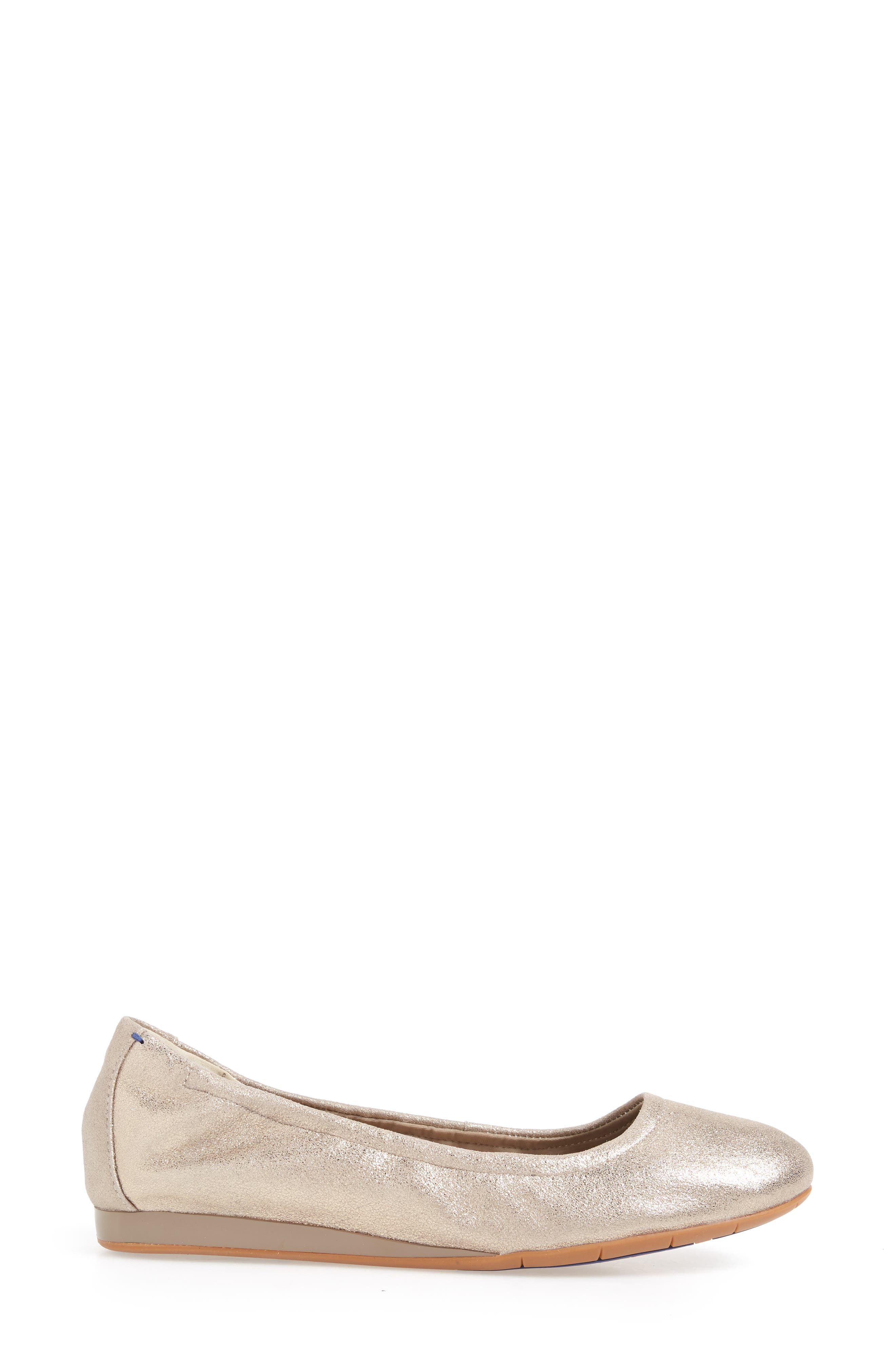 Helena Flat,                             Alternate thumbnail 3, color,                             TAUPE NUBUCK LEATHER