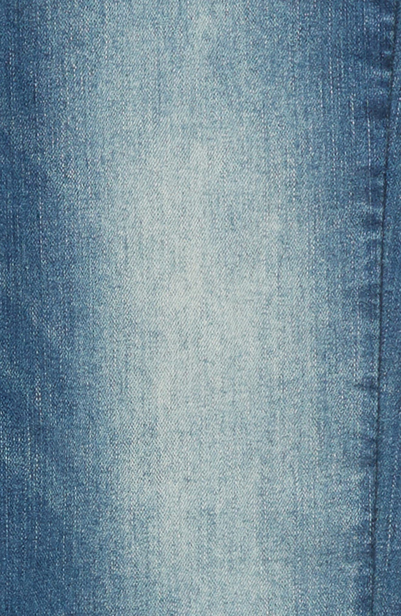 Brixton Straight Leg Stretch Jeans,                             Alternate thumbnail 3, color,                             FOSSIL