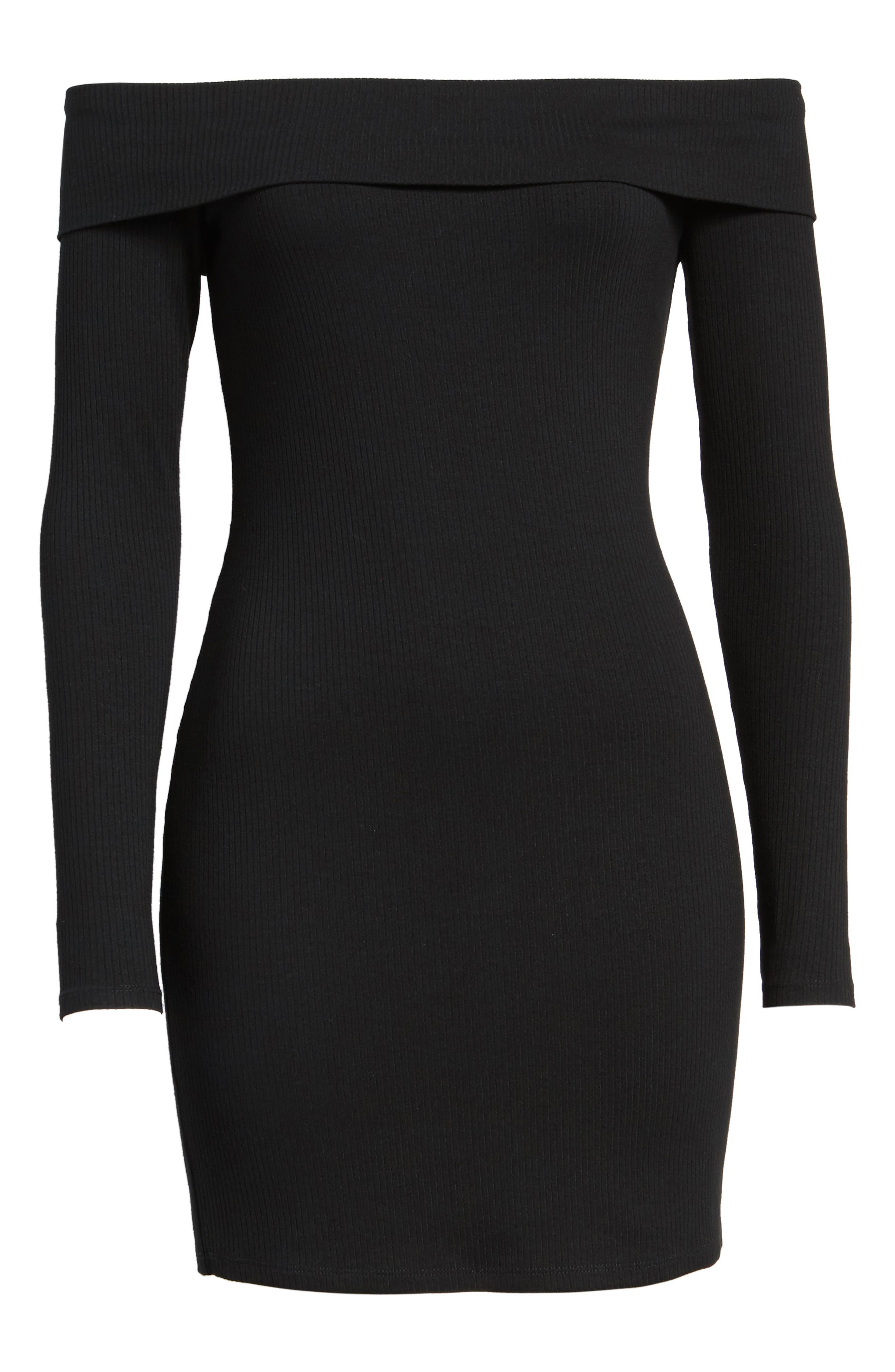 Silas Off the Shoulder Body-Con Dress,                             Alternate thumbnail 16, color,