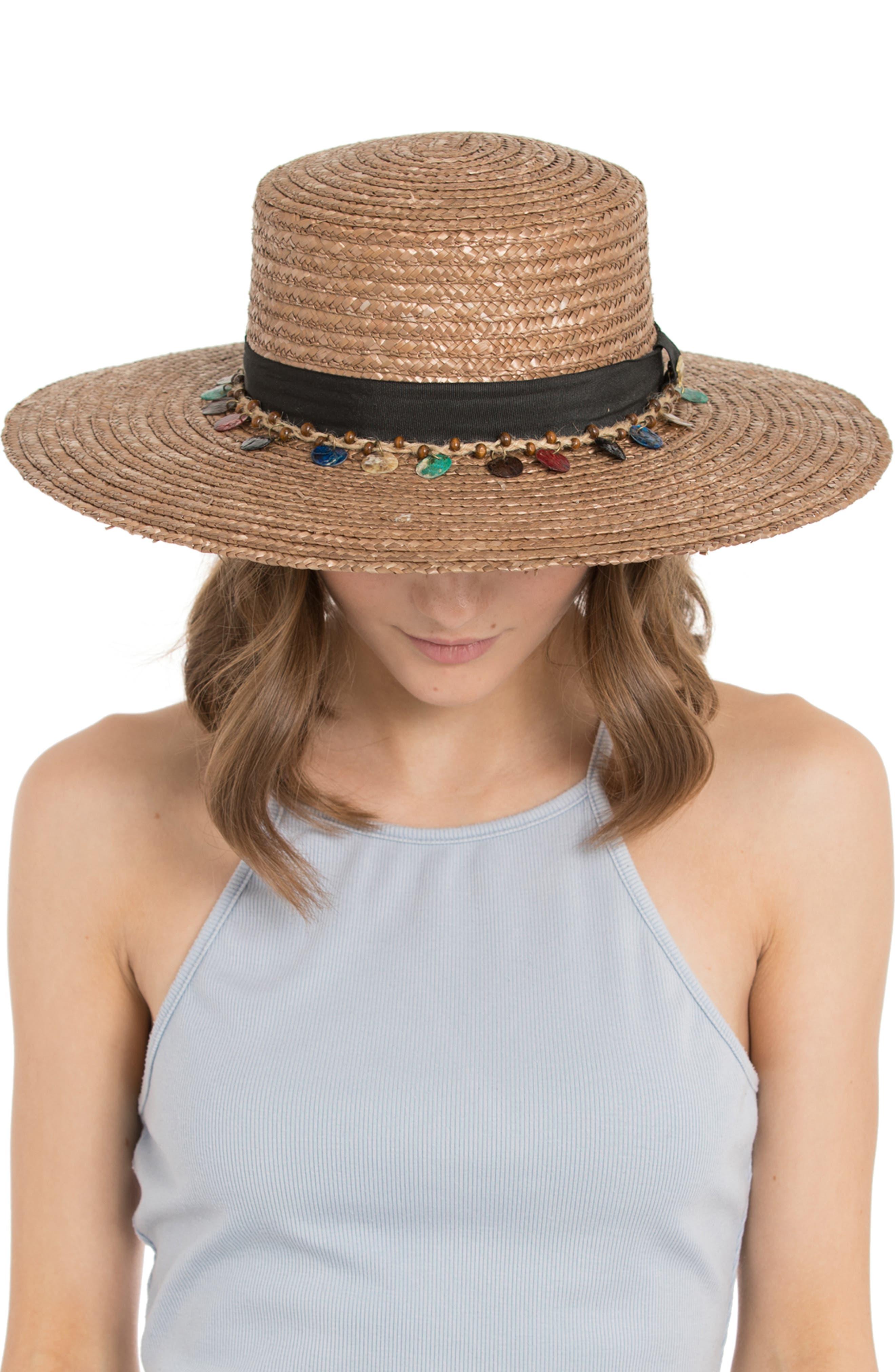 Clau Straw Resort Hat,                             Alternate thumbnail 2, color,                             BROWN