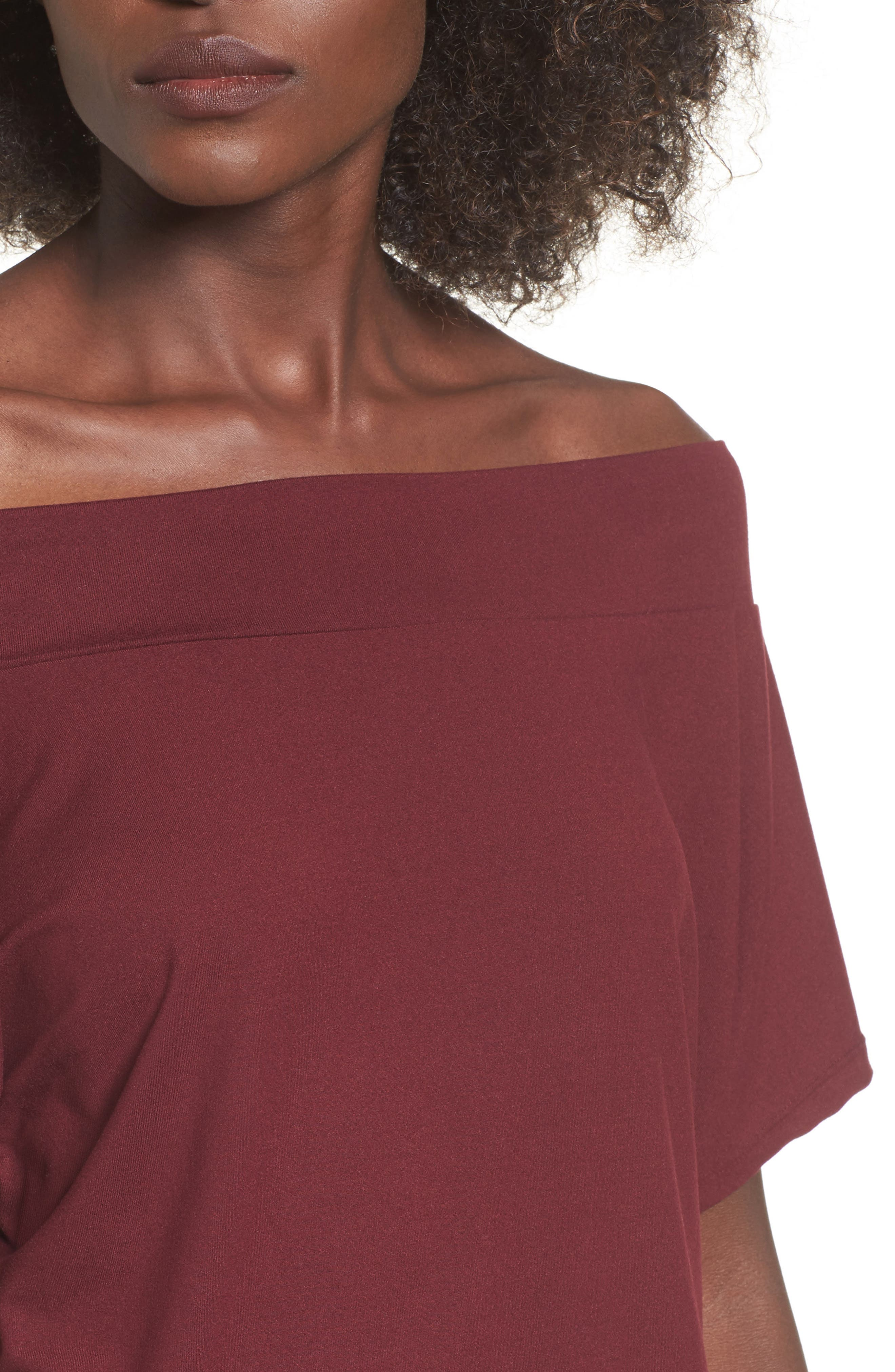 Dolman Sleeve Off the Shoulder Tee,                             Alternate thumbnail 4, color,                             930