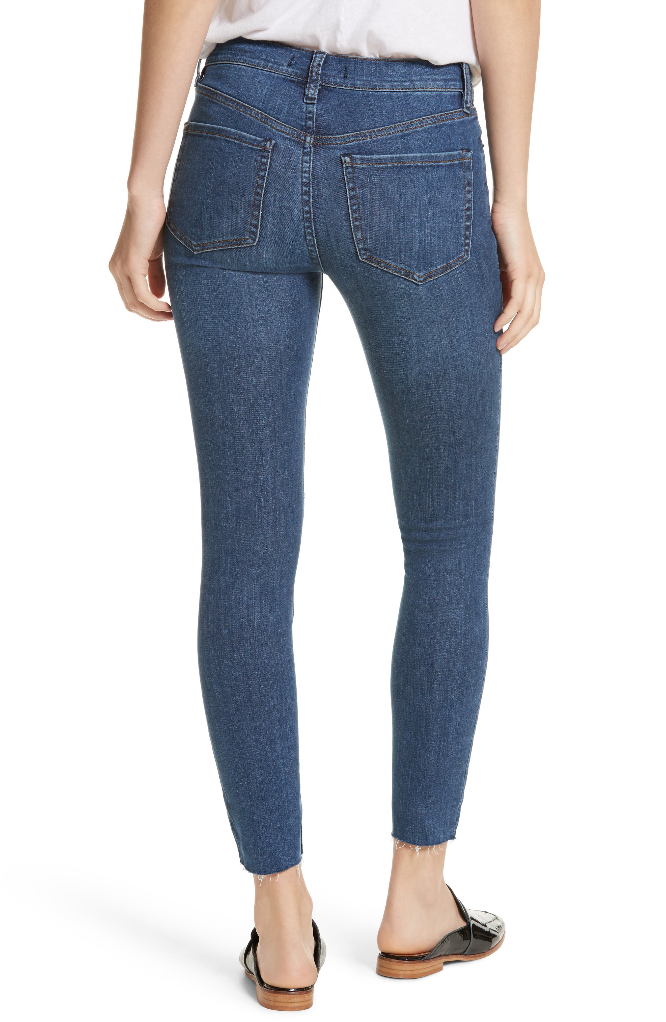 We the Free by Free People Reagan Destroyed Crop Skinny Jeans,                             Alternate thumbnail 2, color,