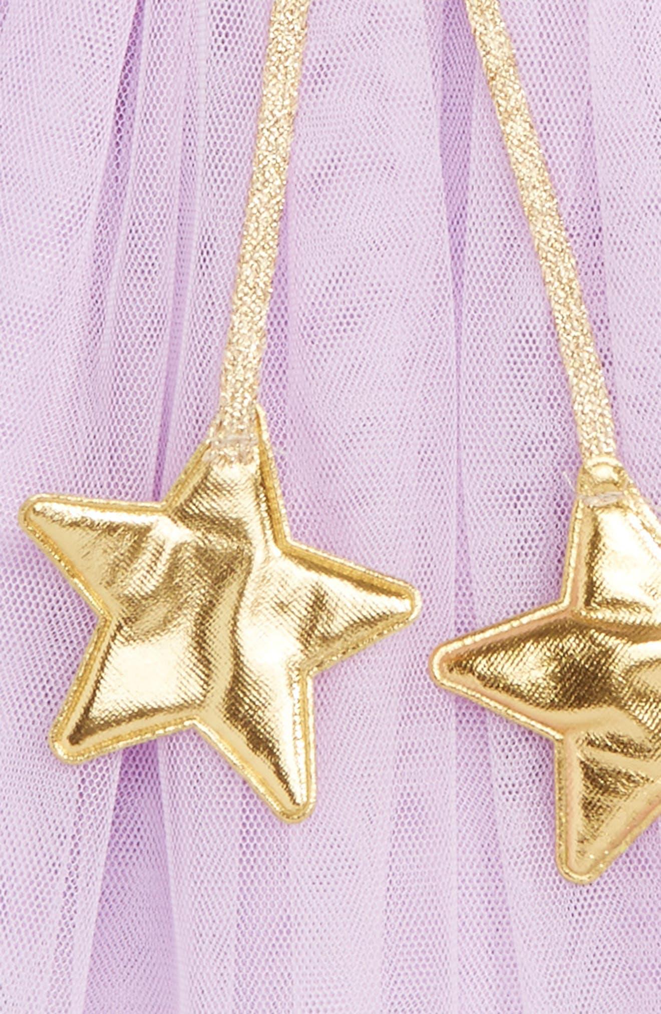 Gold Star Tutu Skirt,                             Alternate thumbnail 2, color,                             PURPLE