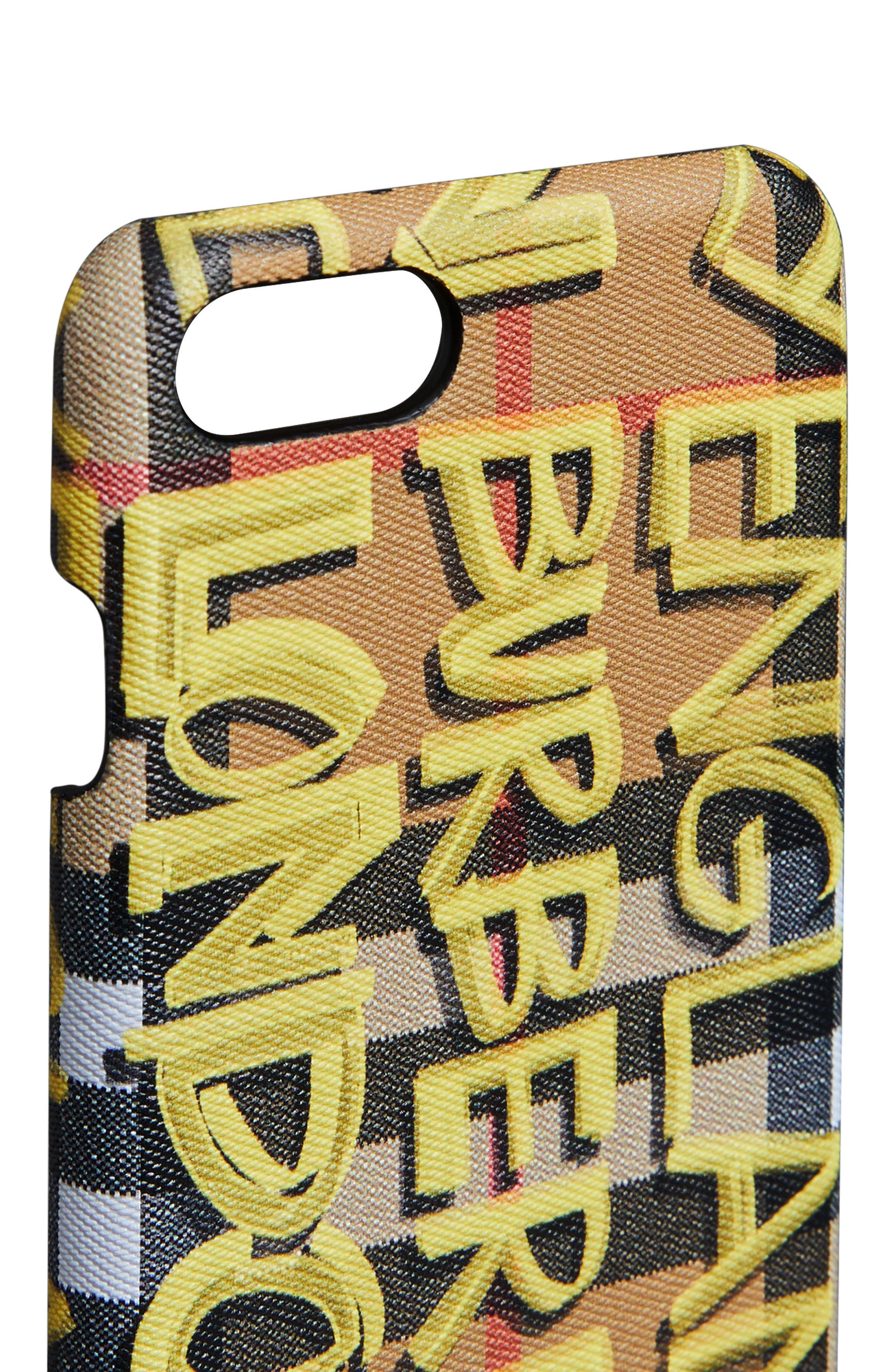 Rufus Graffiti Print iPhone 8 Case,                             Alternate thumbnail 5, color,                             YELLOW