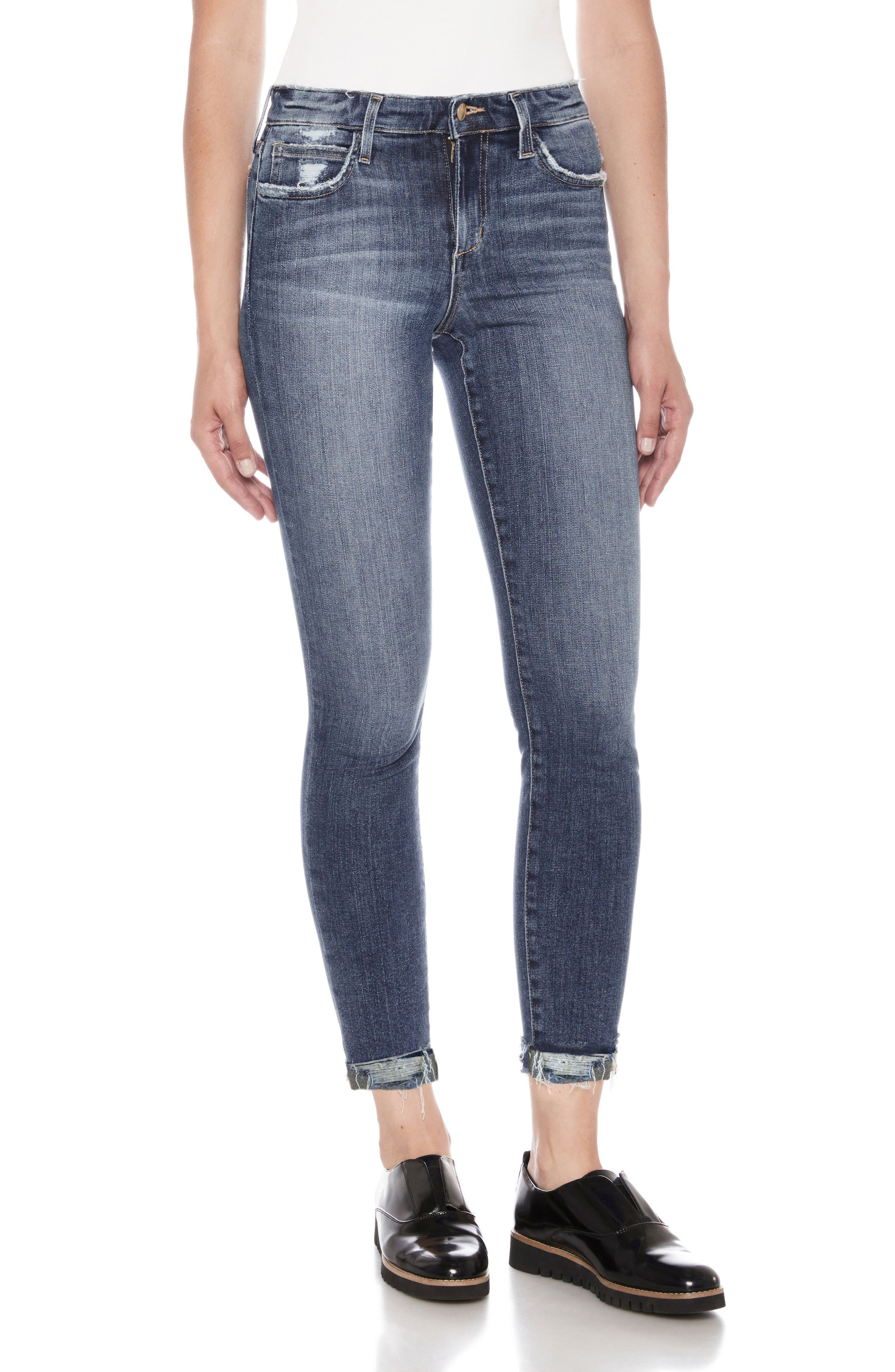 Flawless - Icon Crop Skinny Jeans,                             Main thumbnail 1, color,                             430