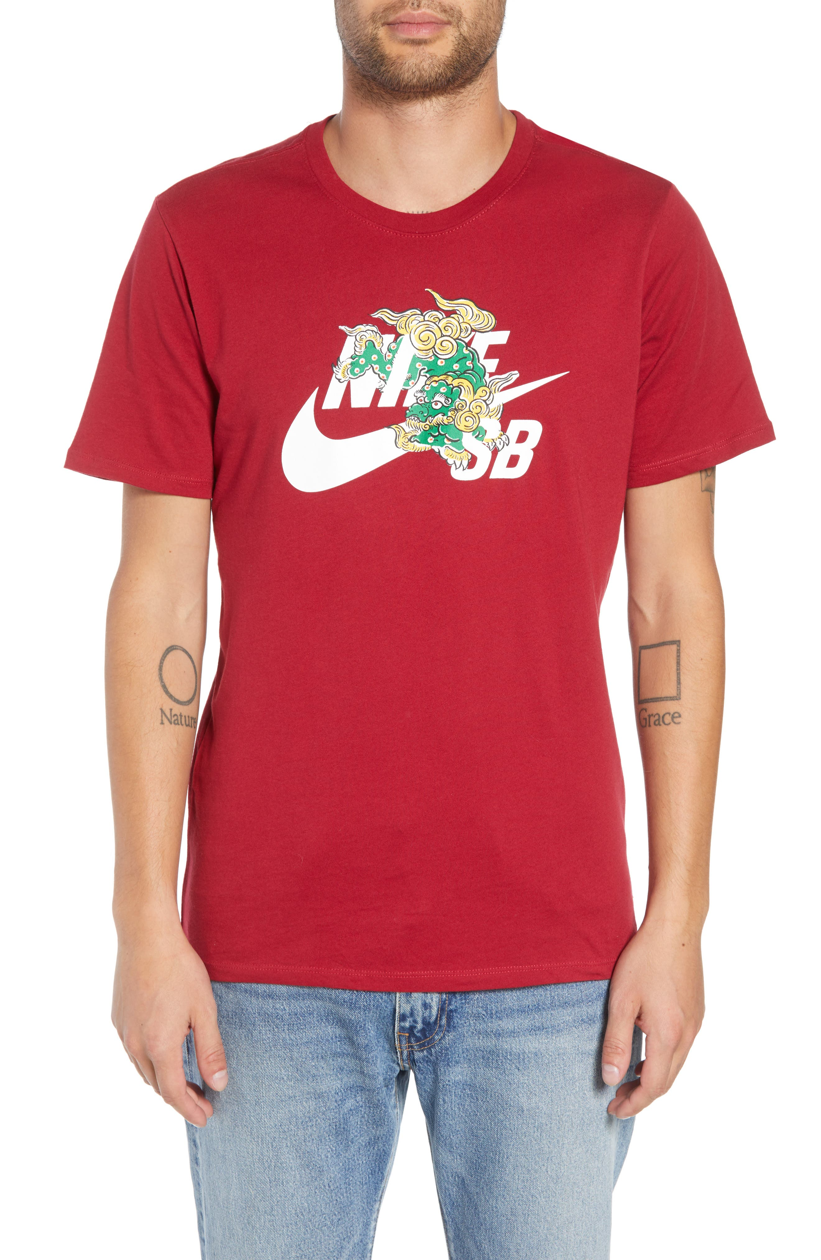 Year of the Dog T-Shirt,                             Main thumbnail 1, color,                             RED CRUSH