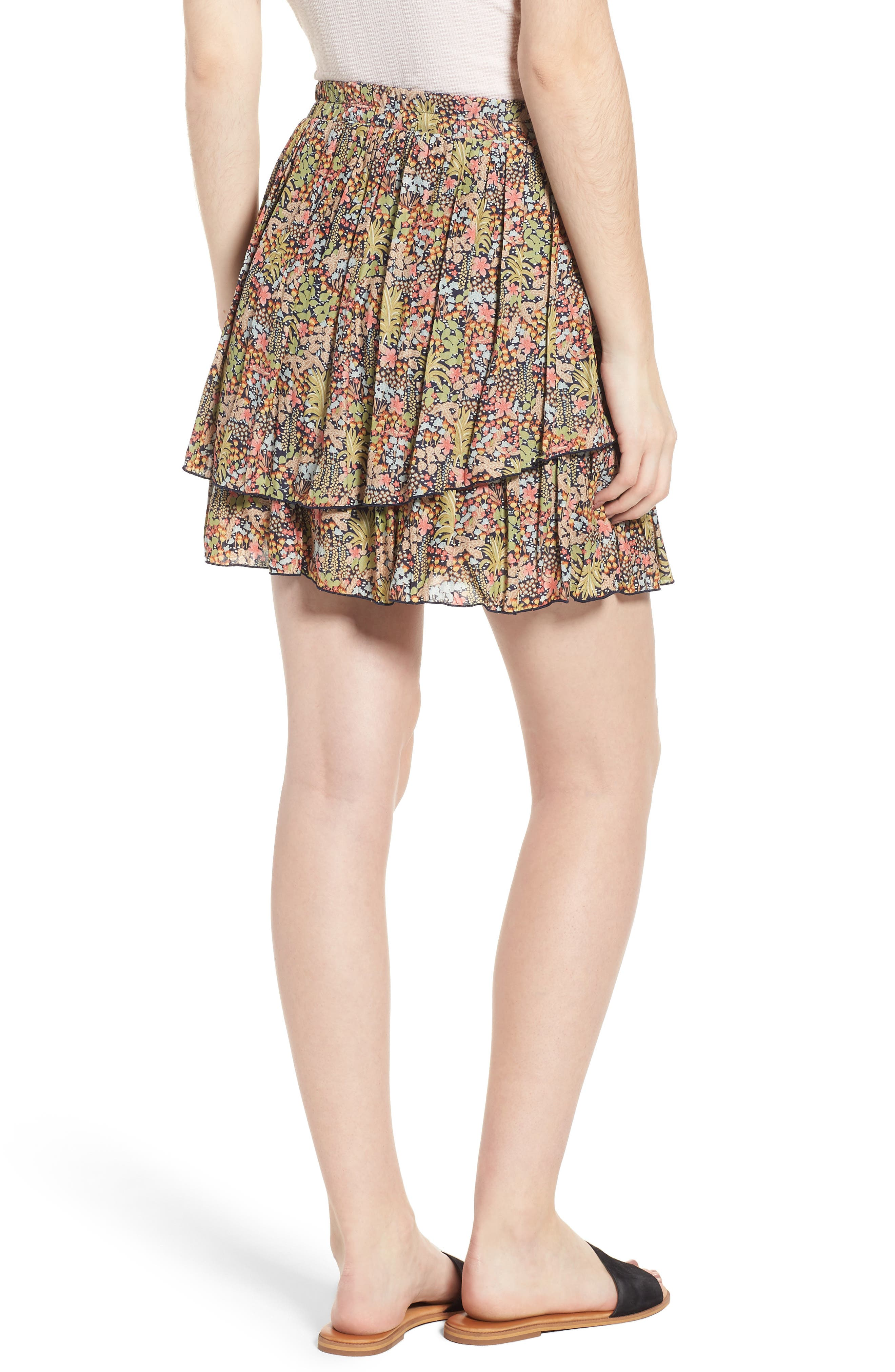 Double Layer Miniskirt,                             Alternate thumbnail 2, color,                             301