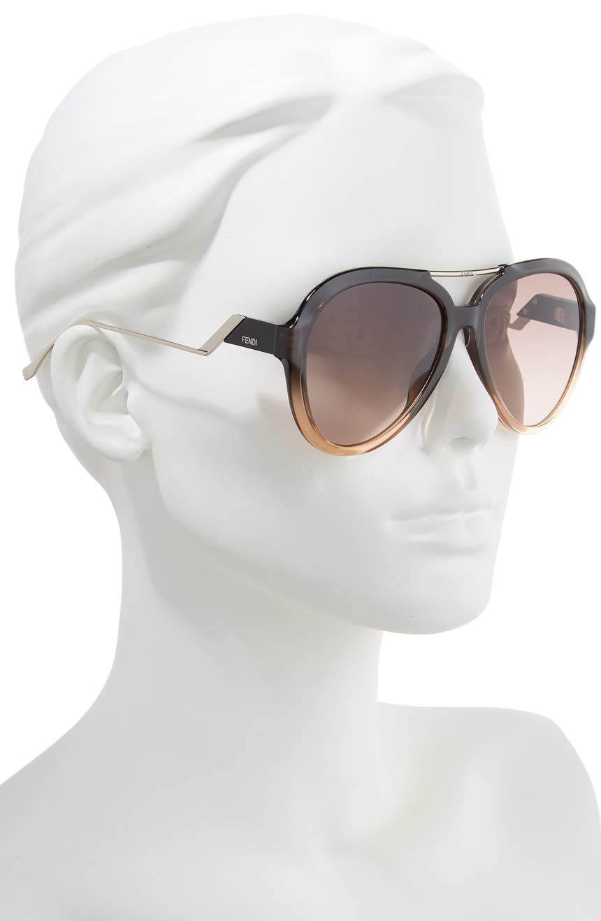 5f055e9da80 Fendi 58mm Aviator Sunglasses