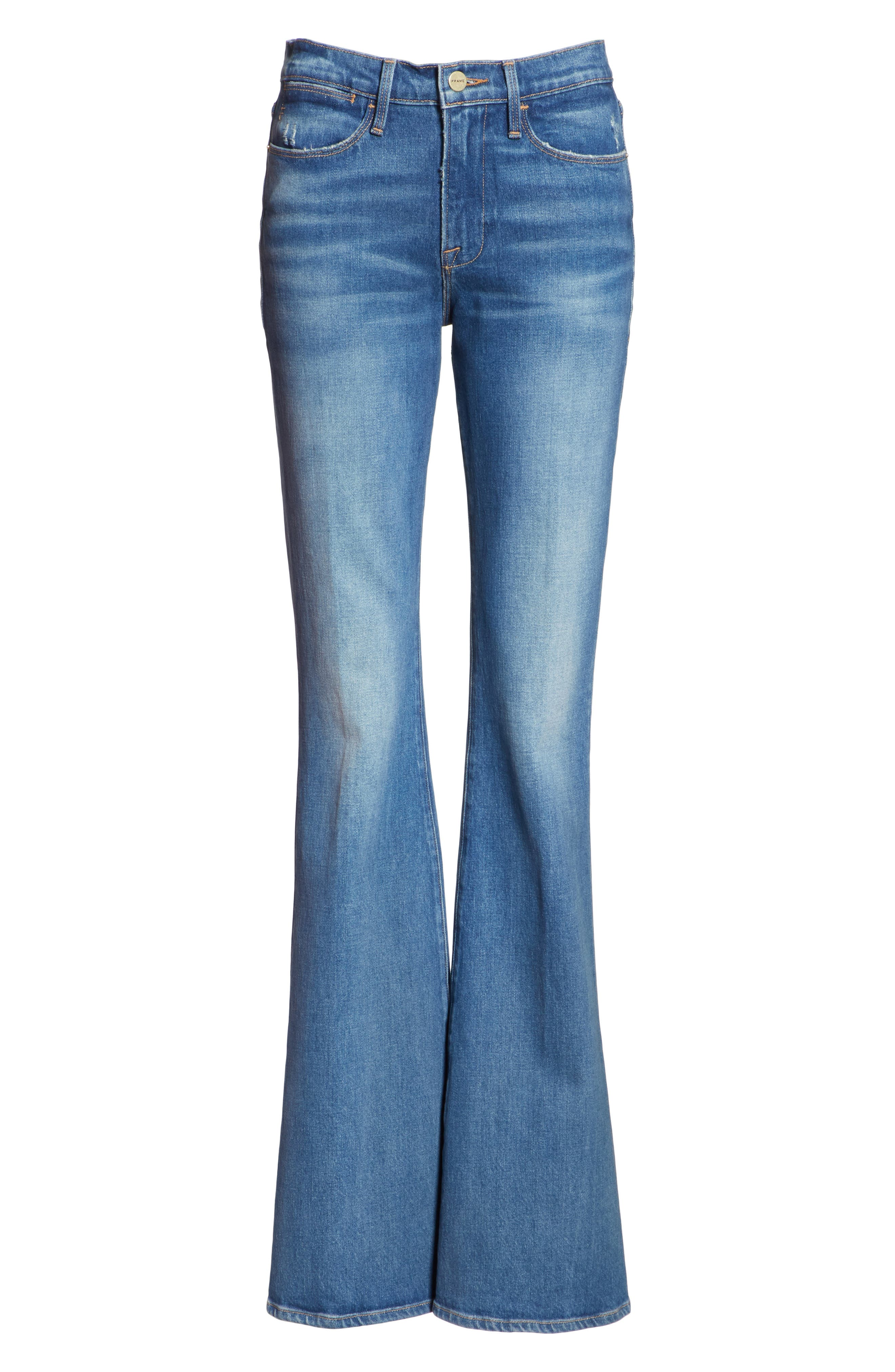 Le High Flare Jeans,                             Alternate thumbnail 7, color,                             CLAPPS