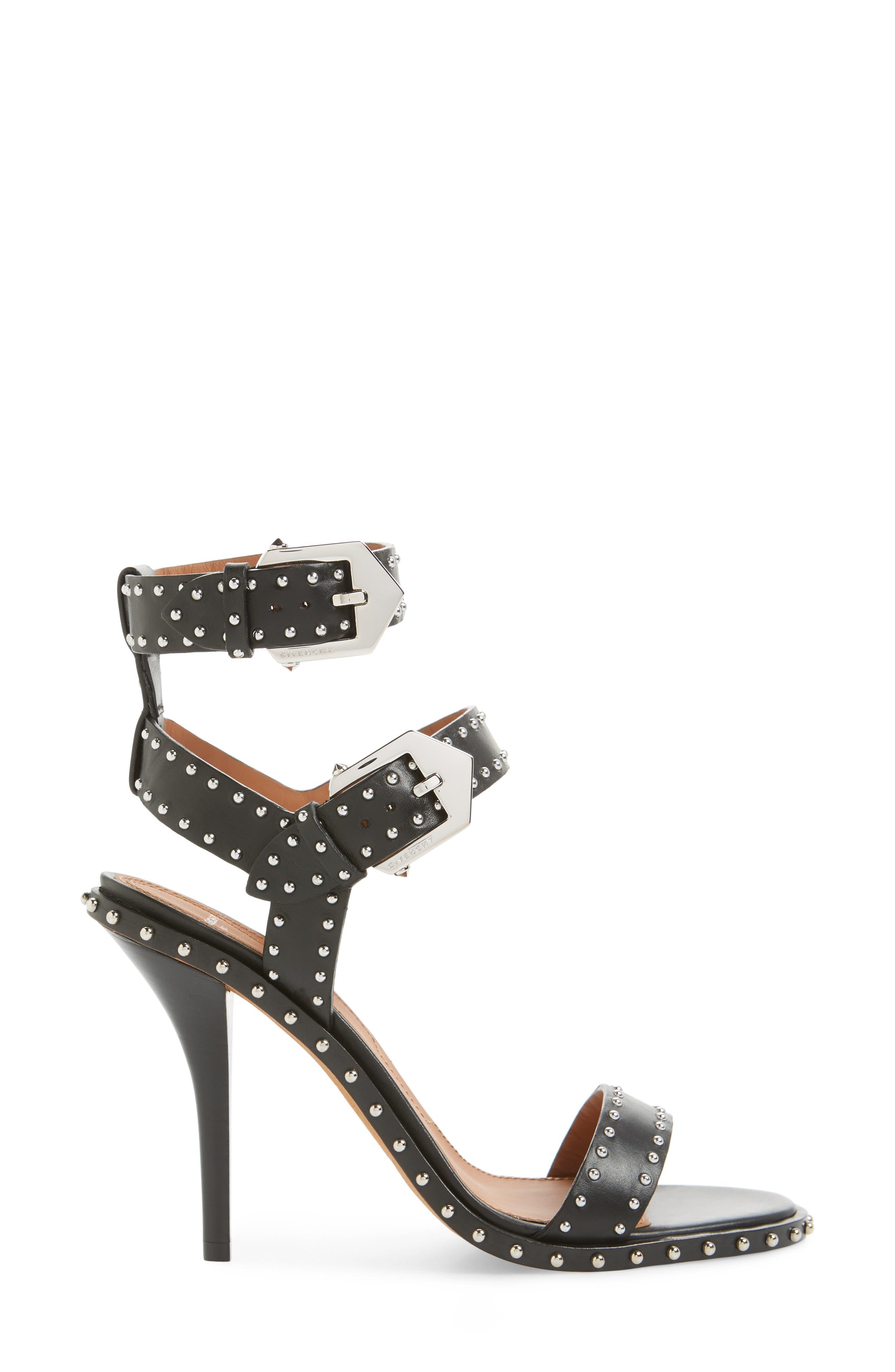 Elegant Studded Sandal,                             Alternate thumbnail 3, color,                             001