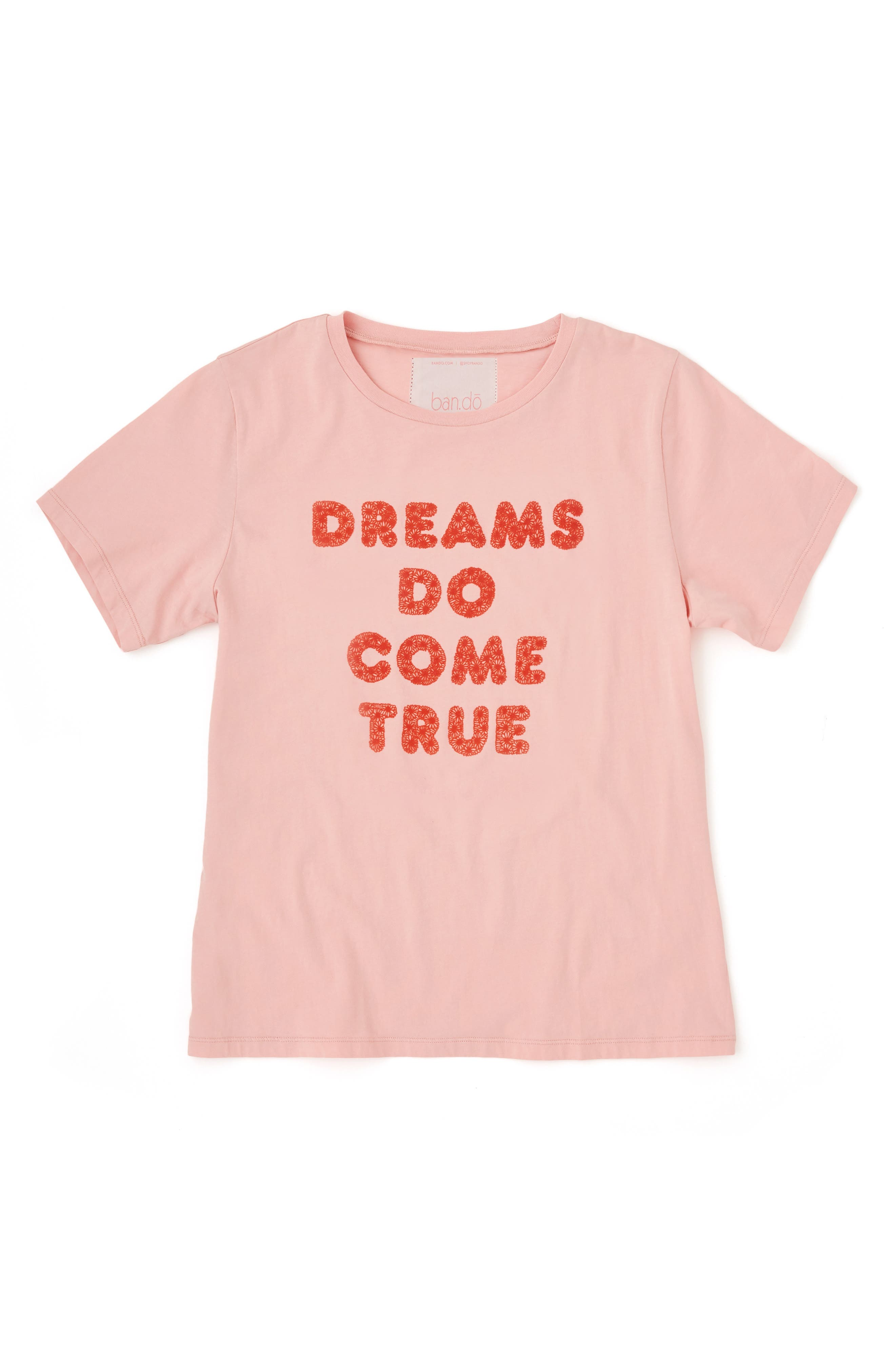 BAN.DO,                             Dreams Come True Classic Tee,                             Alternate thumbnail 2, color,                             PINK