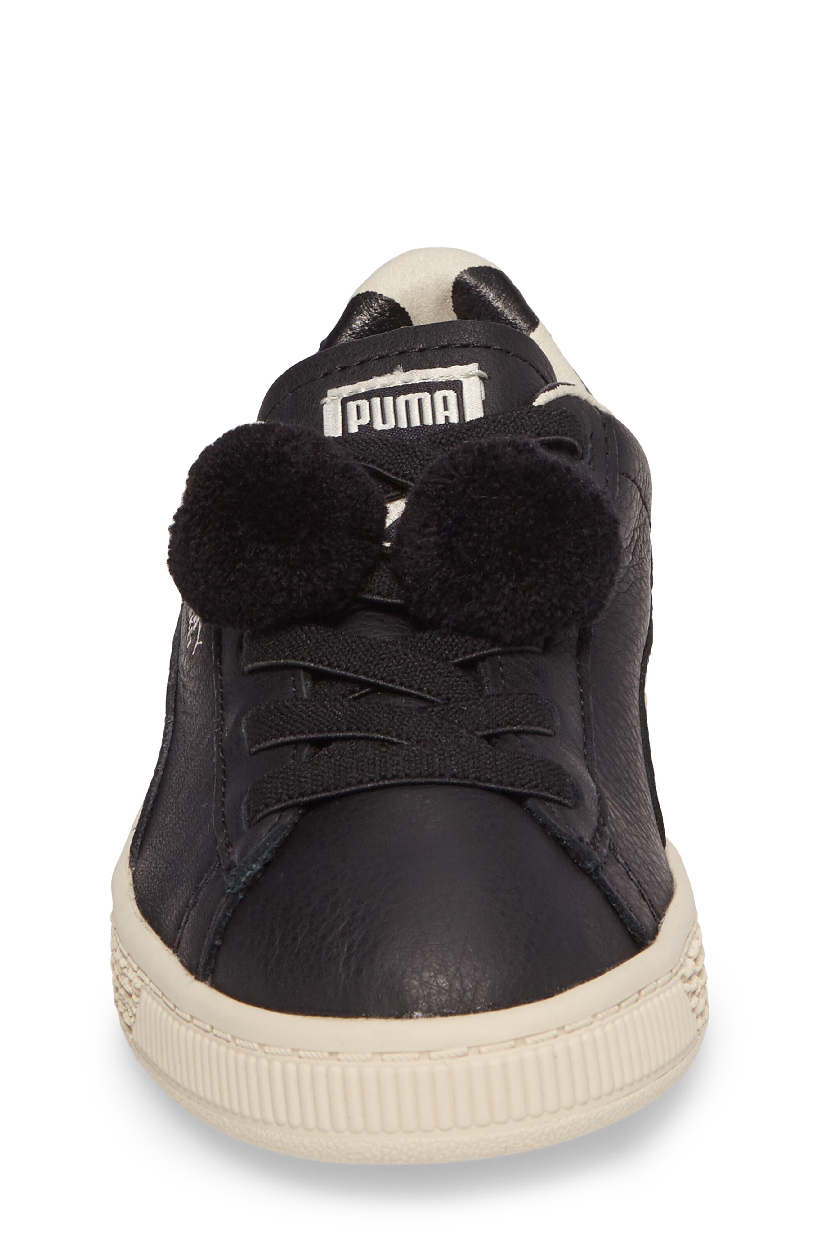 x tinycottons Basket Pompom Sneaker,                             Alternate thumbnail 4, color,                             001