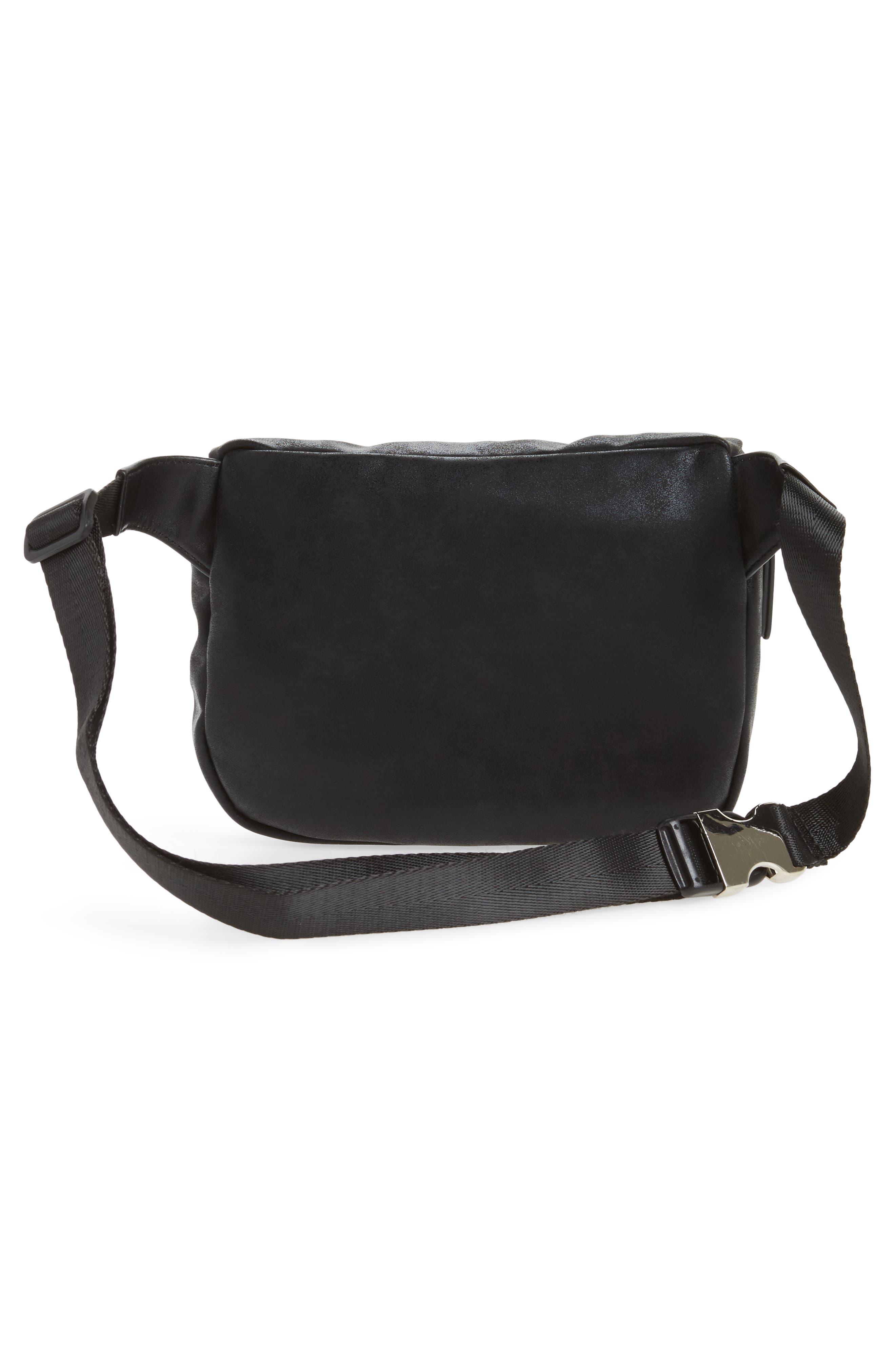 Cara Faux Leather Belt Bag,                             Alternate thumbnail 3, color,                             001