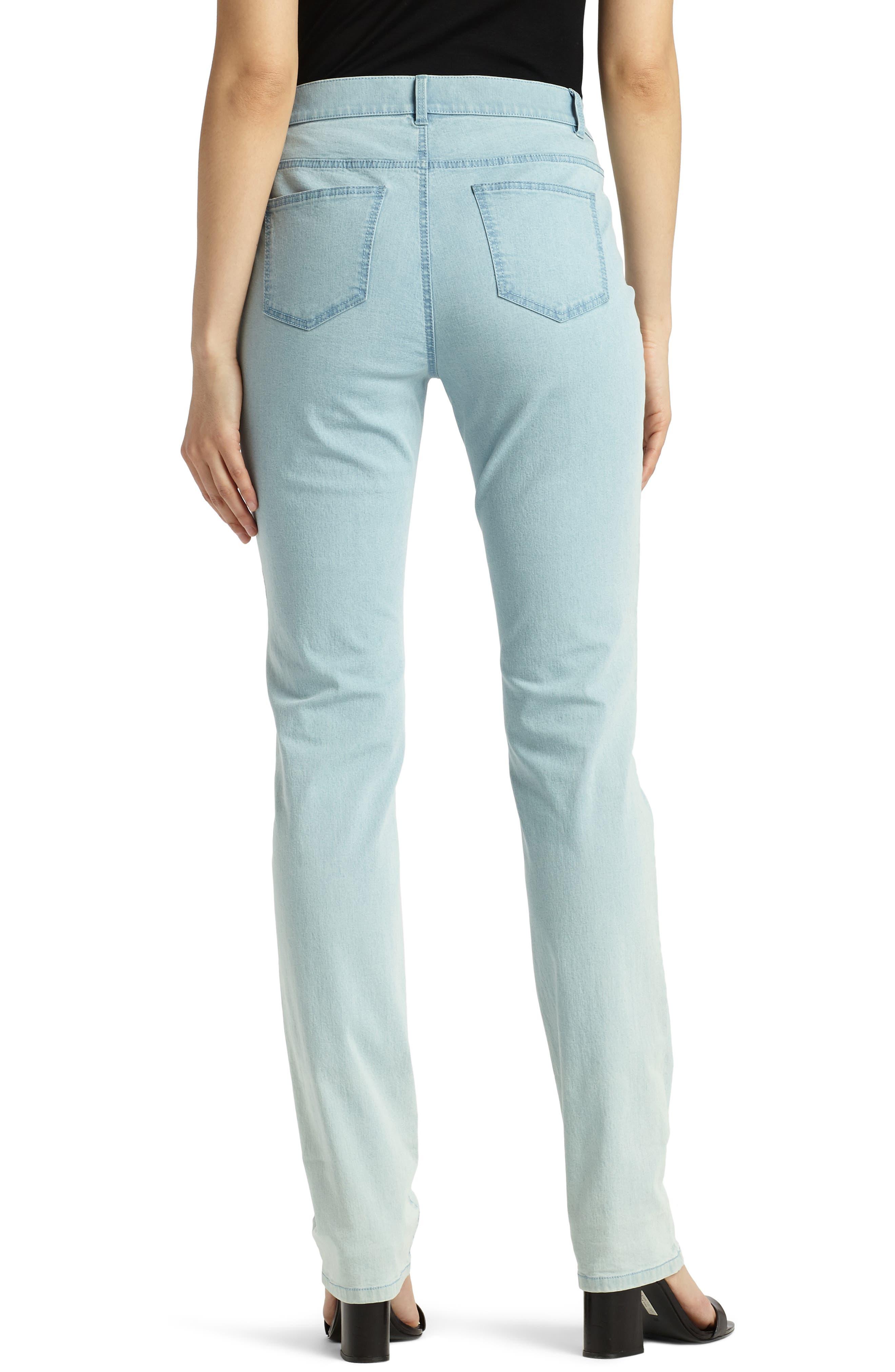 'Primo Denim' Curvy Fit Slim Leg Jeans,                             Alternate thumbnail 3, color,                             PORCELAIN