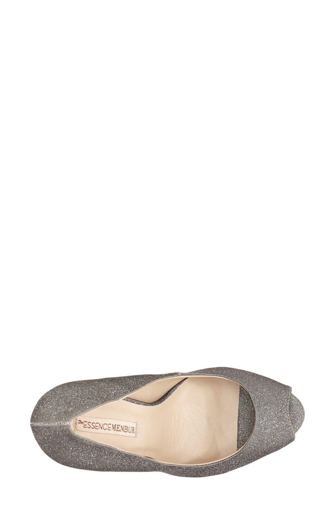 'Sotogordo' Glitter Peep Toe Platform Pump,                             Alternate thumbnail 2, color,                             021