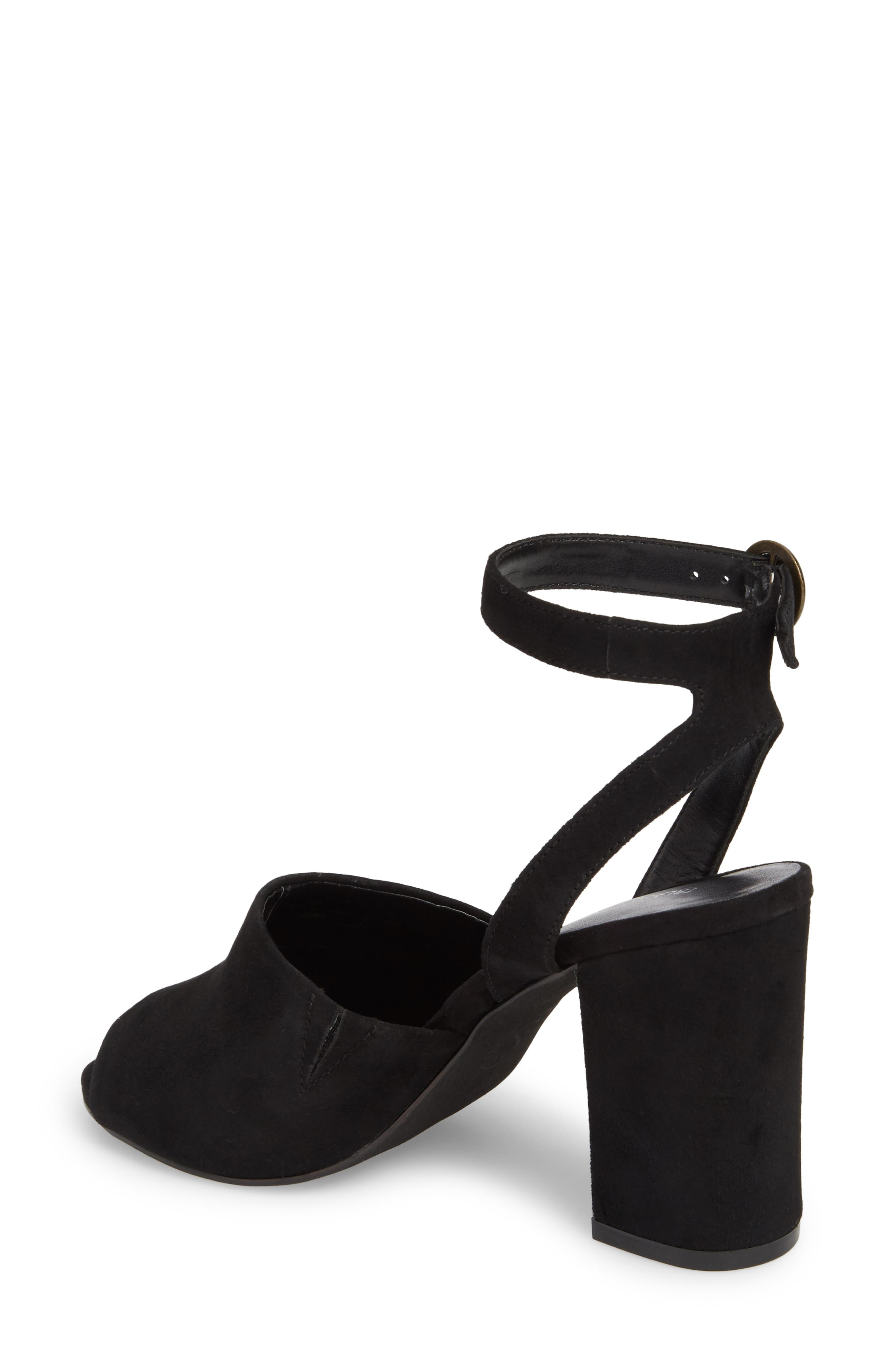 Pipper Block Heel Sandal,                             Alternate thumbnail 2, color,                             BLACK SUEDE