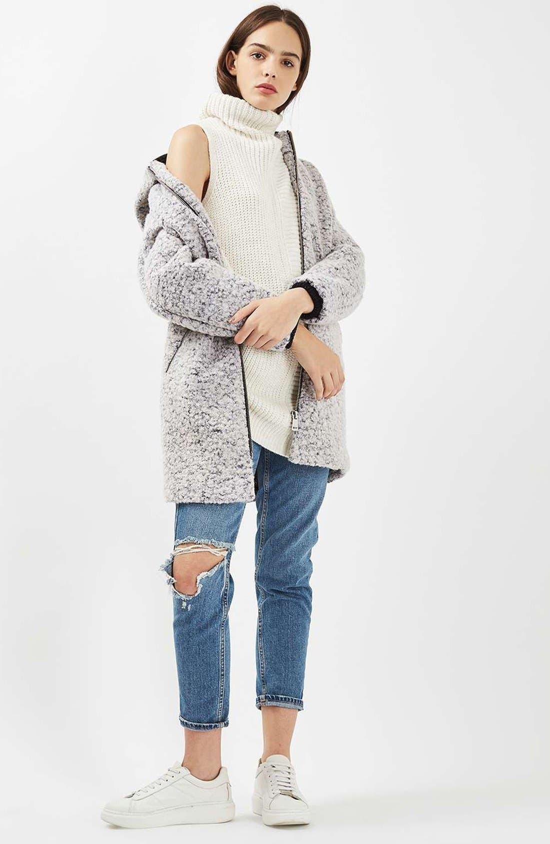 Sleeveless Turtleneck Sweater,                             Alternate thumbnail 4, color,                             900