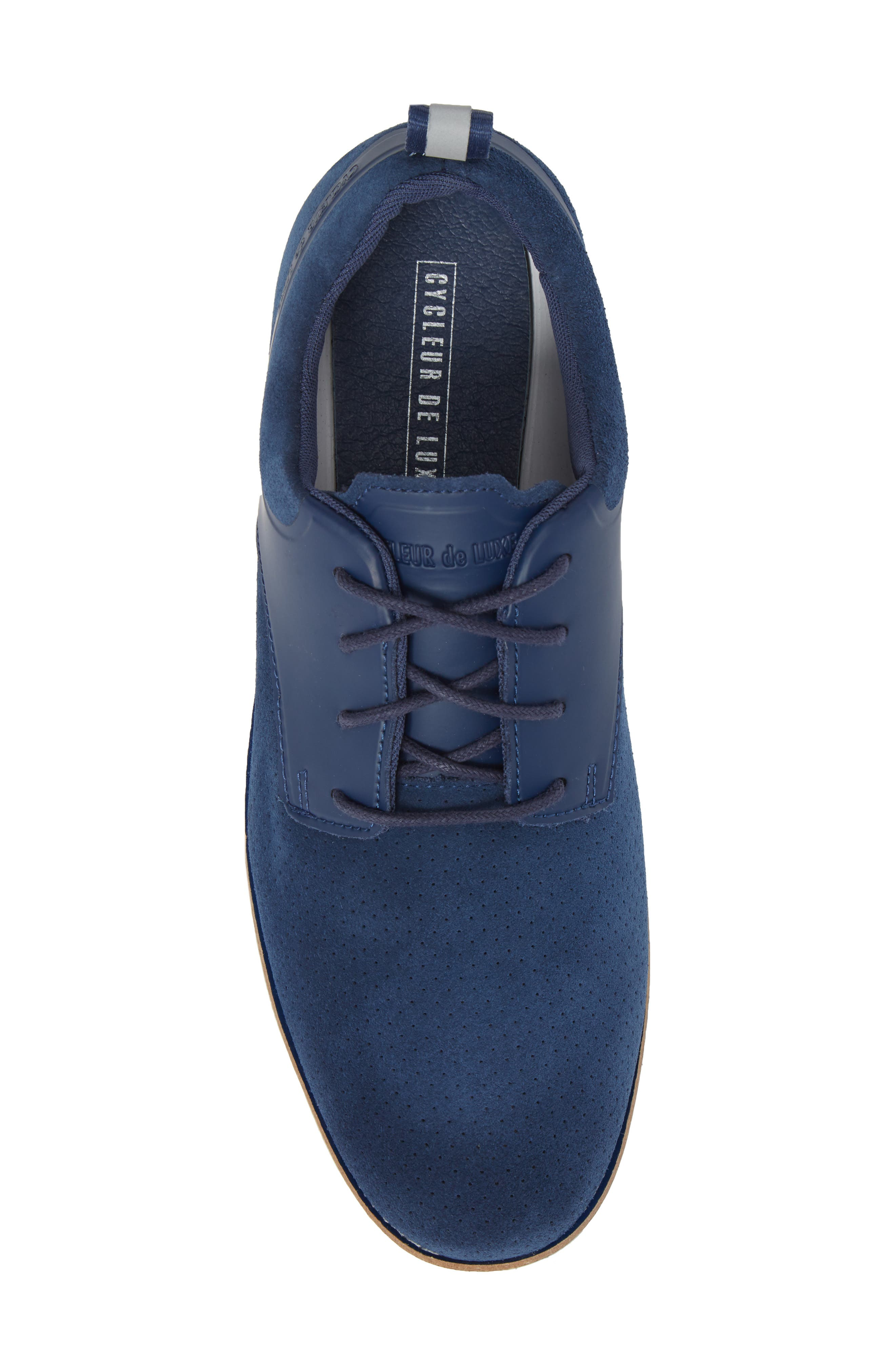 Ridley Perforated Low Top Sneaker,                             Alternate thumbnail 5, color,                             NAVY LEATHER