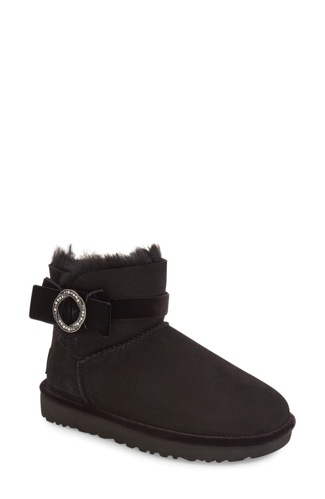 UGG<SUP>®</SUP>,                             Karlie Brooch Bootie,                             Main thumbnail 1, color,                             001