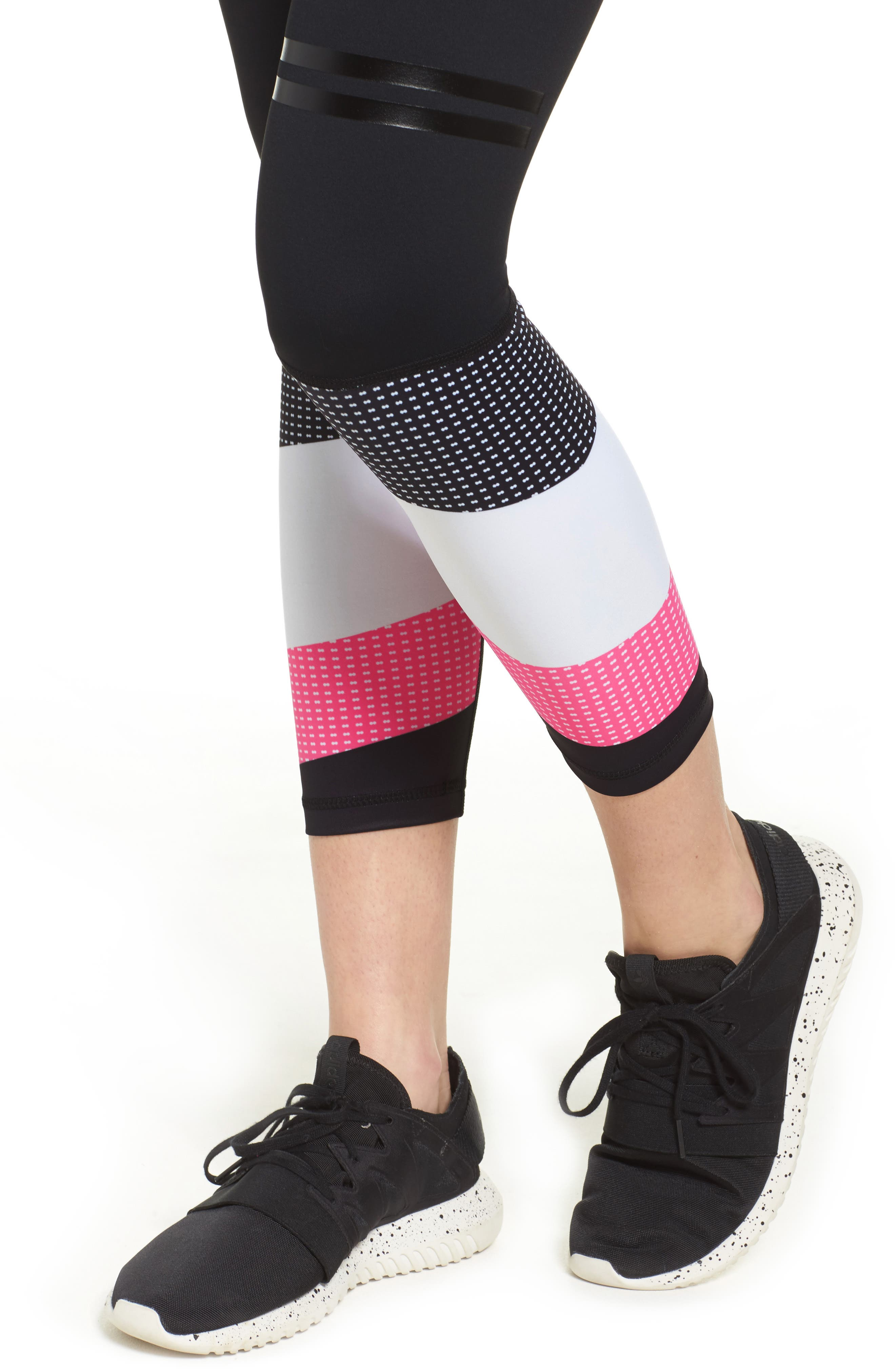 Skyler Midi Leggings,                             Alternate thumbnail 4, color,                             001