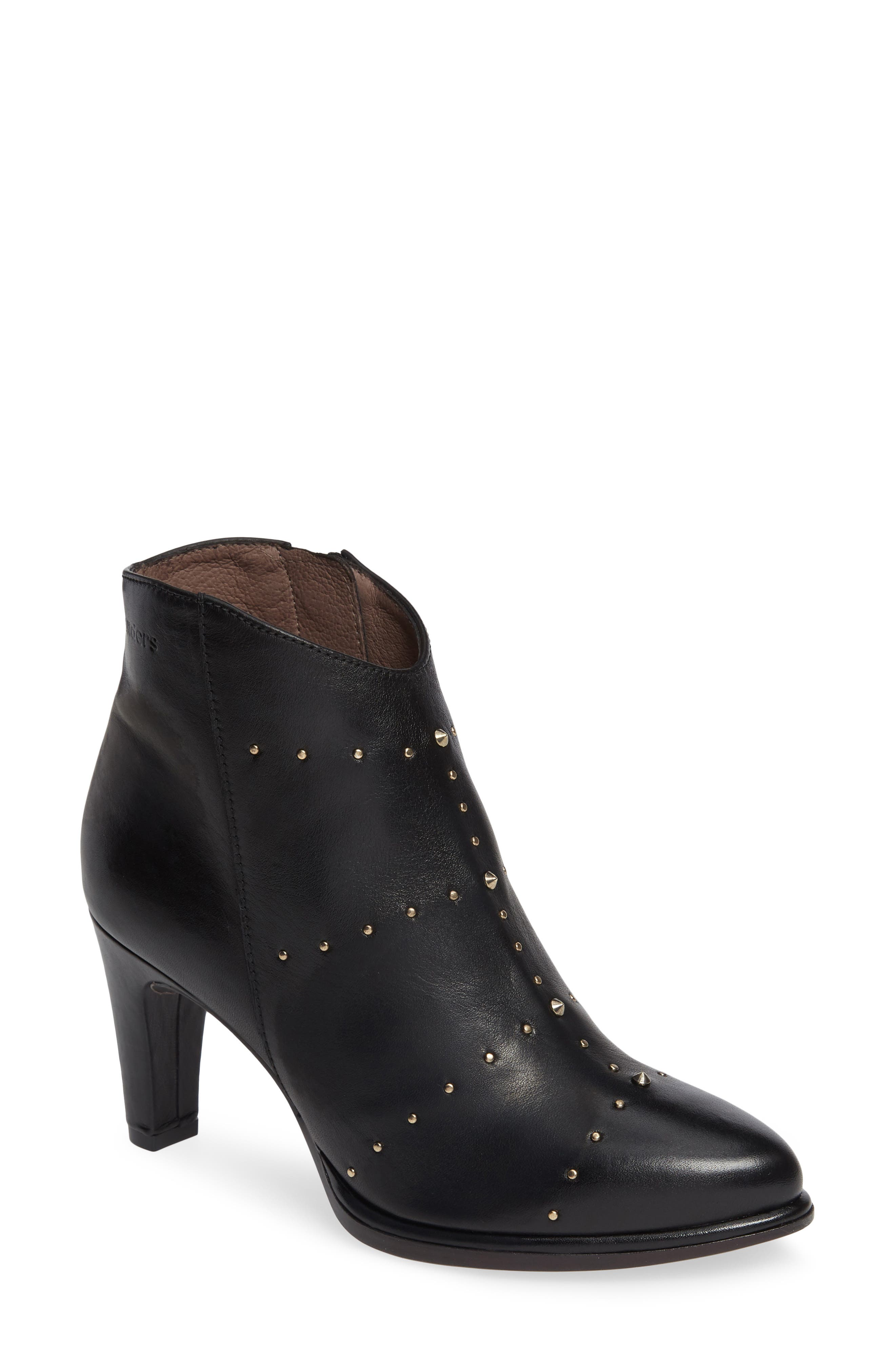 Wonders Stud Bootie, Black