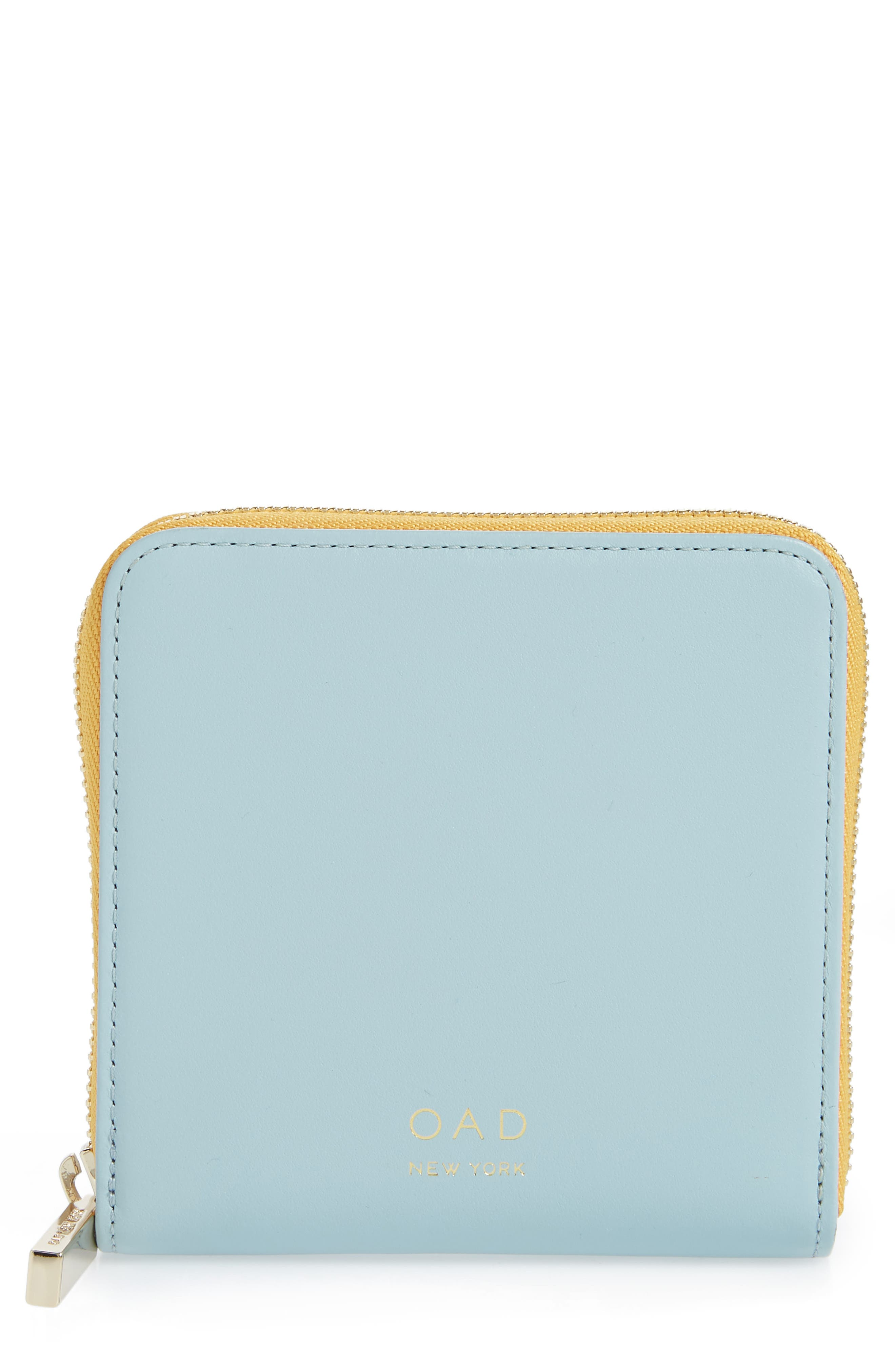 Half Zip Carryall Wallet,                             Main thumbnail 1, color,                             CLOUD BLUE/ HONEY