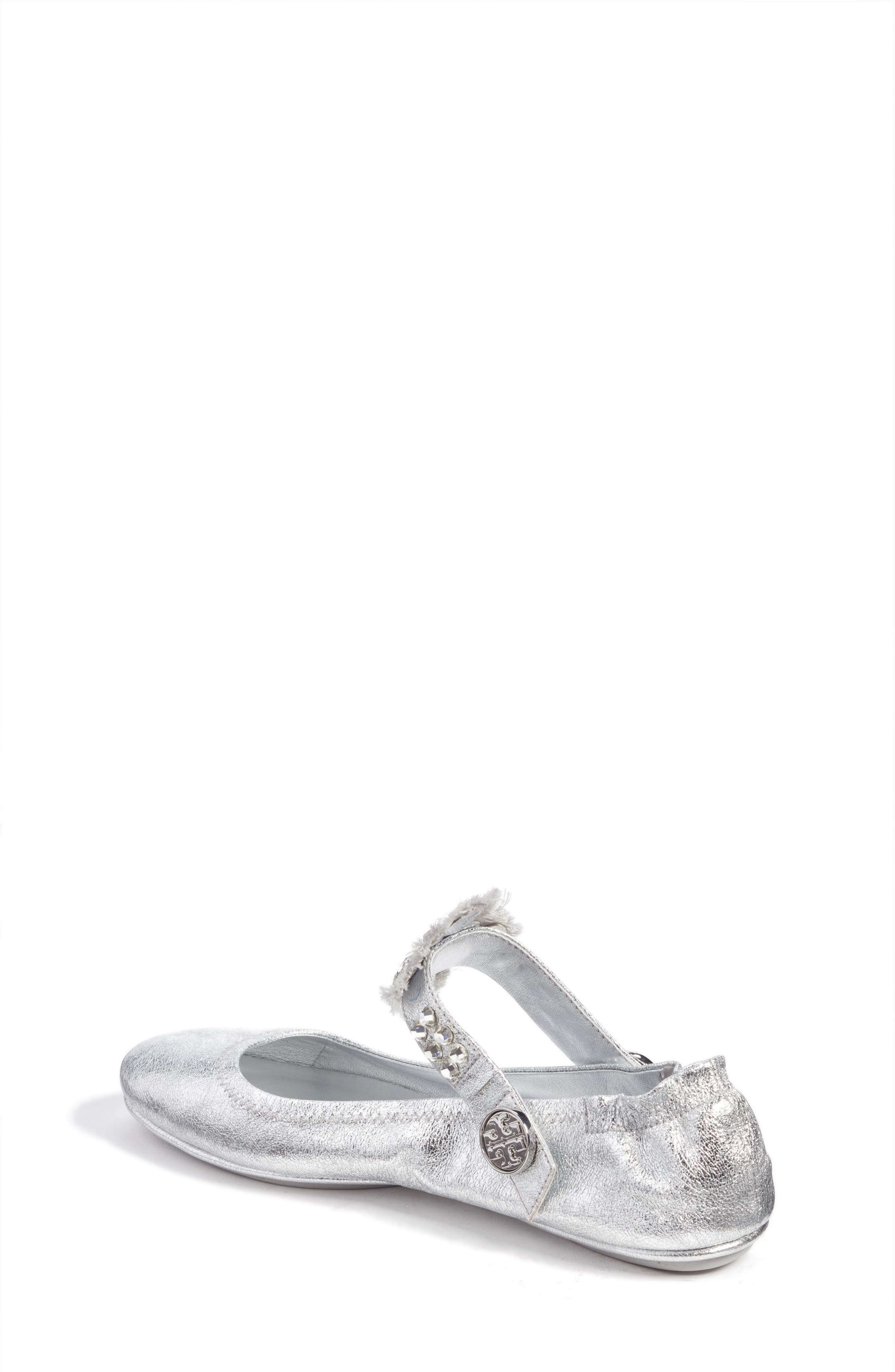Minnie Embellished Convertible Strap Ballet Flat,                             Alternate thumbnail 8, color,