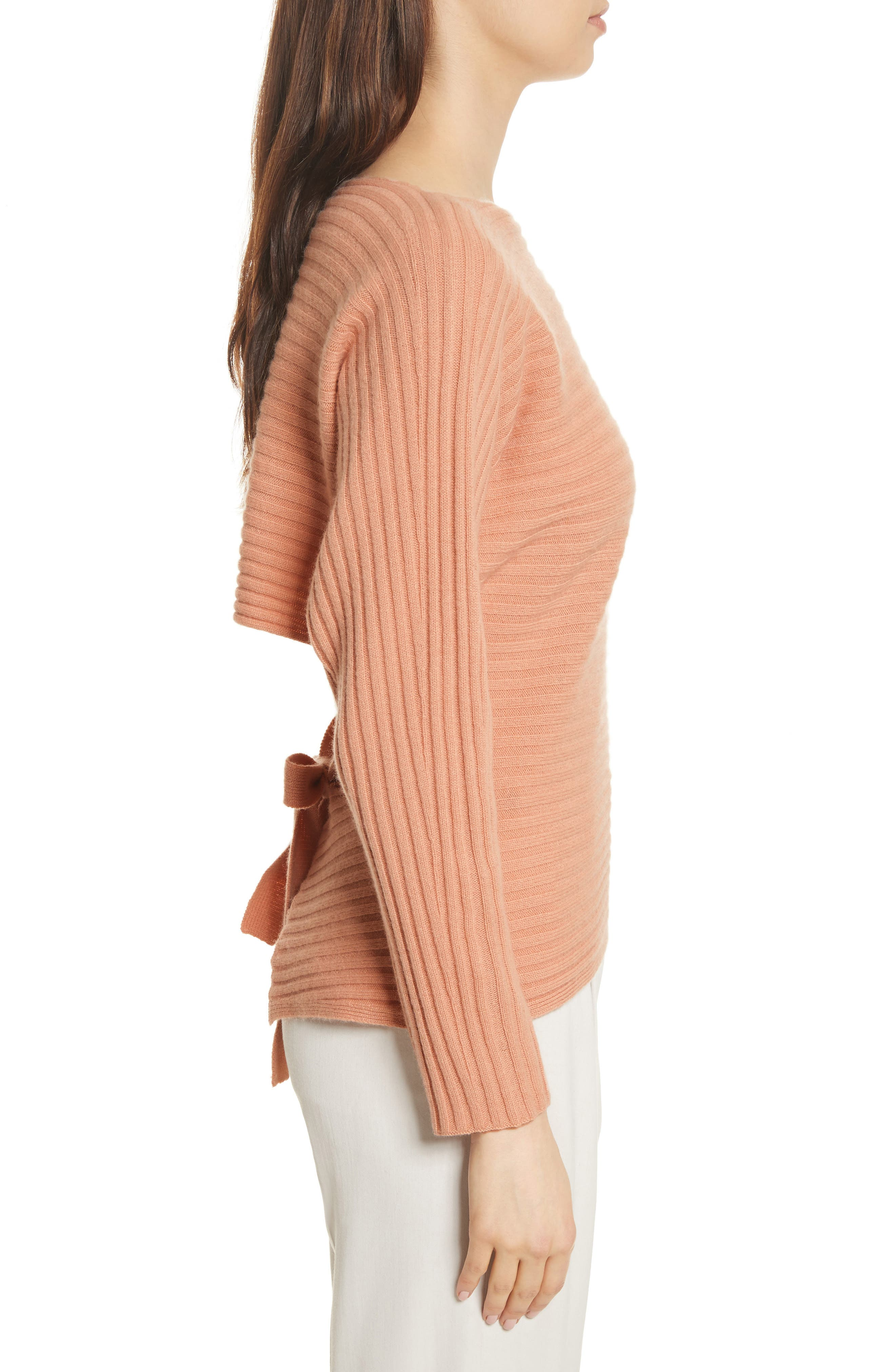Tie Back Wool & Cashmere Sweater,                             Alternate thumbnail 8, color,