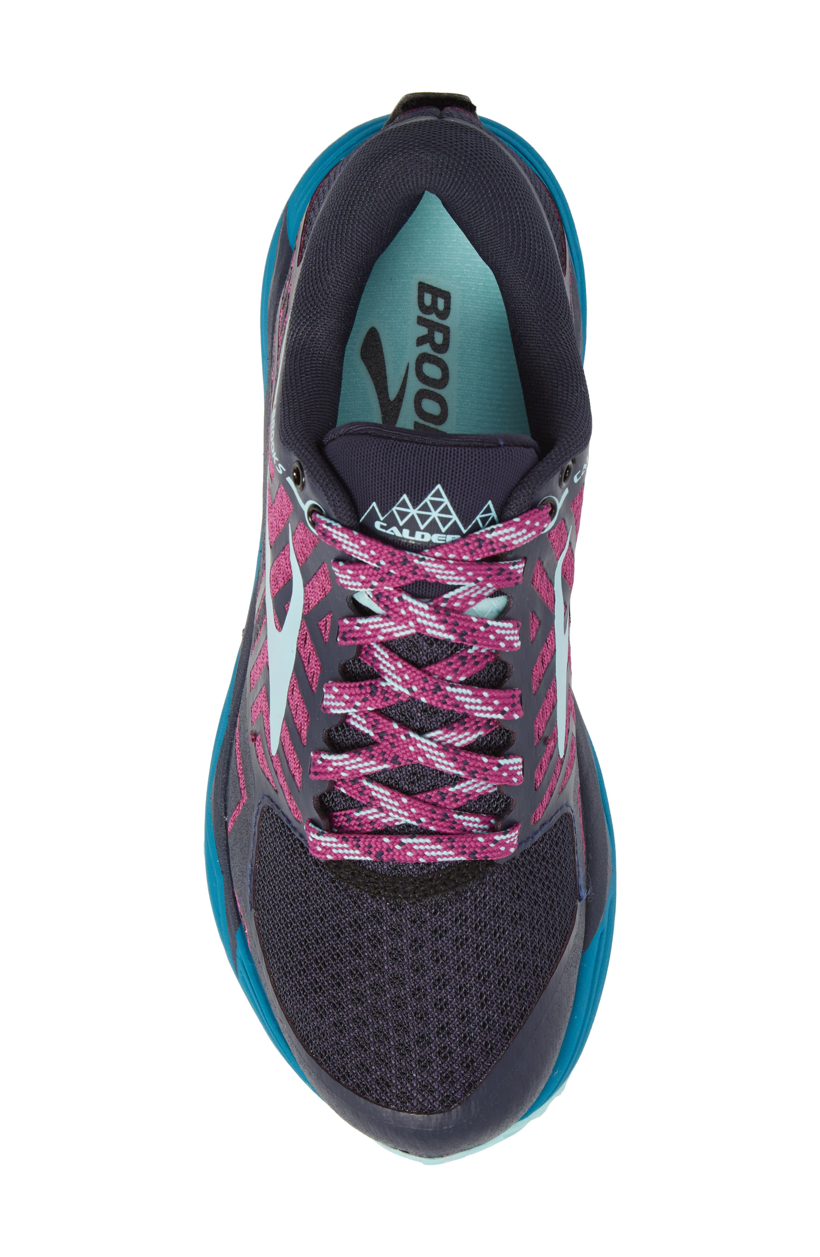 Caldera 2 Trail Running Shoe,                             Alternate thumbnail 5, color,                             NAVY/ PLUM/ ICE BLUE