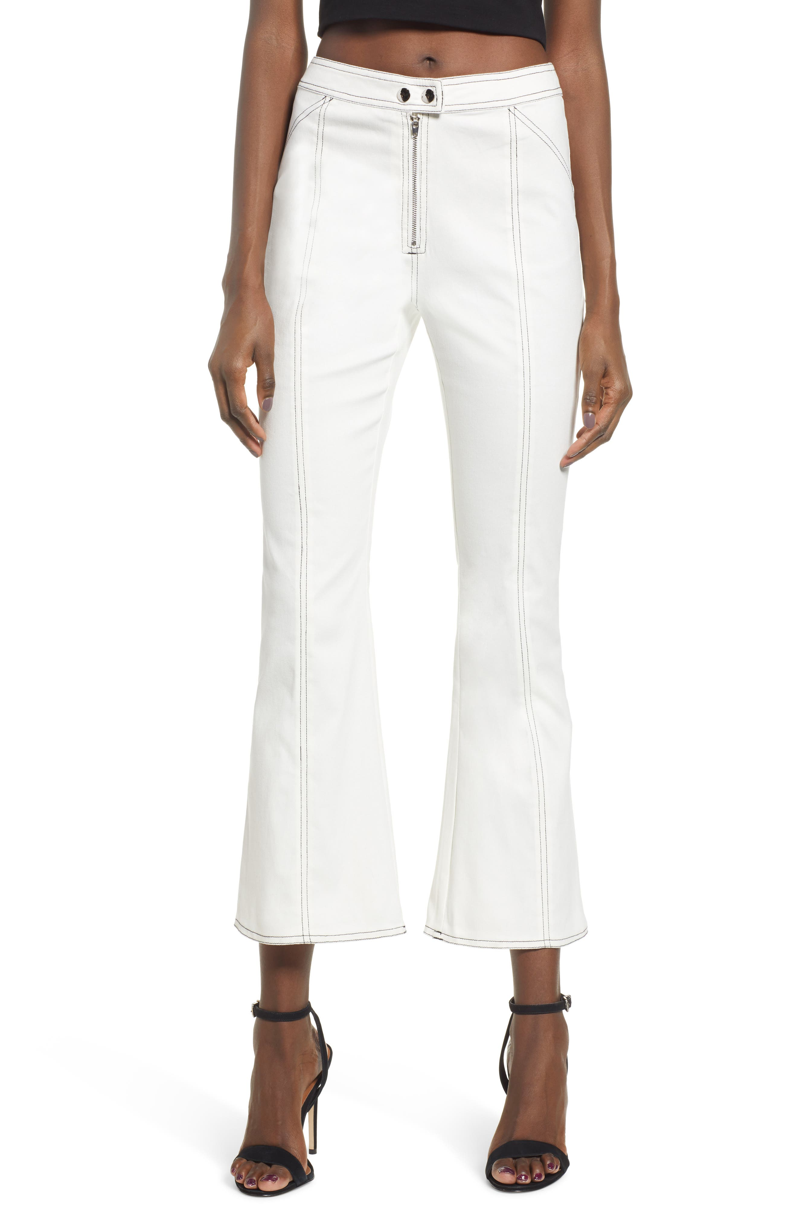 Tiger Mist Ava Flare Pants, White