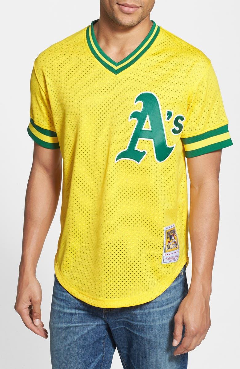 fba97f07680 MITCHELL   NESS 'Joe Morgan - Oakland Athletics' Authentic Mesh BP Jersey